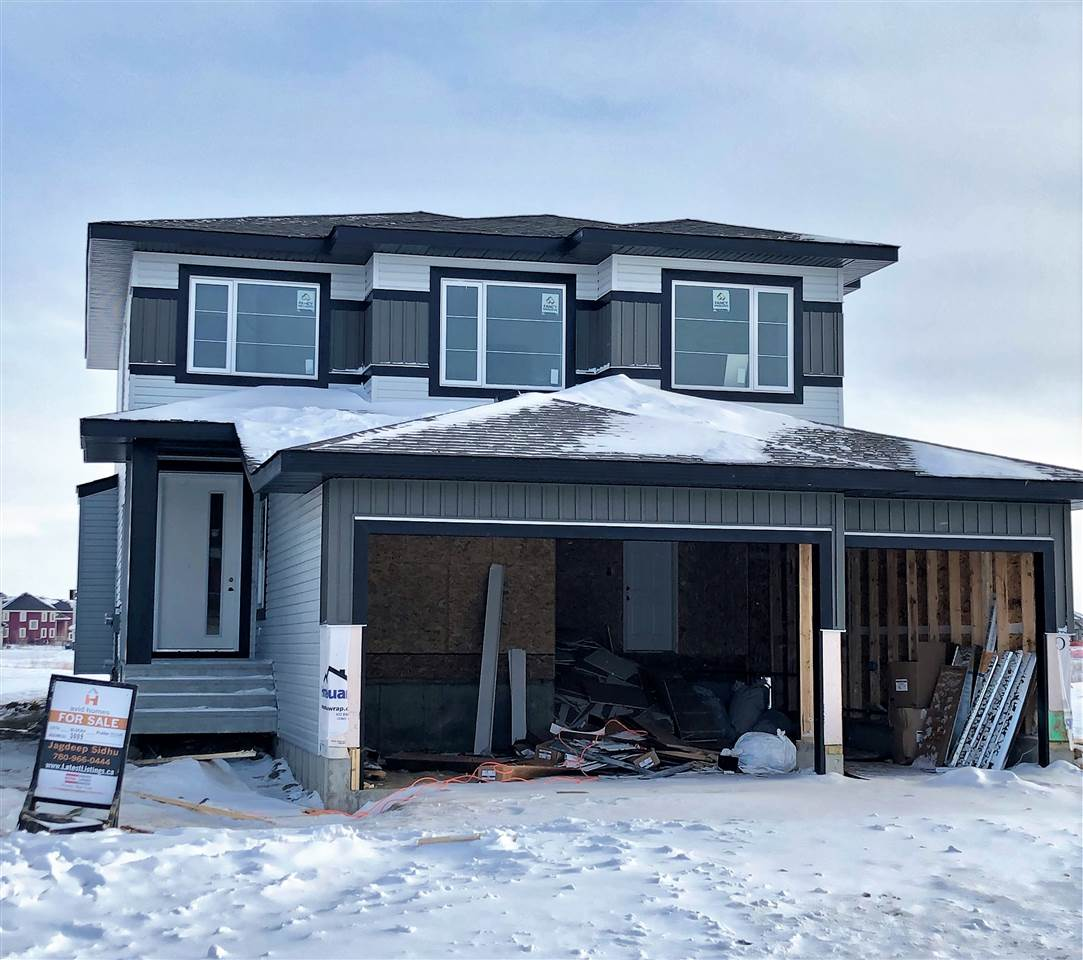 PLACE CHALEUREUSE- BRAND NEW 2 Storey + Basement, TRIPLE GARAGE 2277 sq ft, 4 BDRM + BONUS room home. Main floor has open concept Great Room with cofferred ceiling, modern upgraded kitchen with walk thru pantry/mud room, Den and 2PC BATH ON MAIN. 4 bedrooms, 2 baths, laundry and spacious Bonus Room upstairs. Master has luxury 5 pc en-suite Shower with BODY JETS and huge Walk in Closet. Lots of upgrades including modern kitchen with QUARTZ counters thru out the house.California Closets, Linear Fireplace, extensive wood work with built in organizers. Bright basement has separate side entry 9 ft ht and roughed in for extra bath and kitchen for future ideas/finishing. Close to all amenities, easy access to all major routes, South Edmonton, Airport, Leduc. Steps away to 2 New Schools, New Home 2-5-10 year Warranty. $5000 Appliance Allowance. Still time to choose your finishing. Estimated occupancy Mid MARCH.