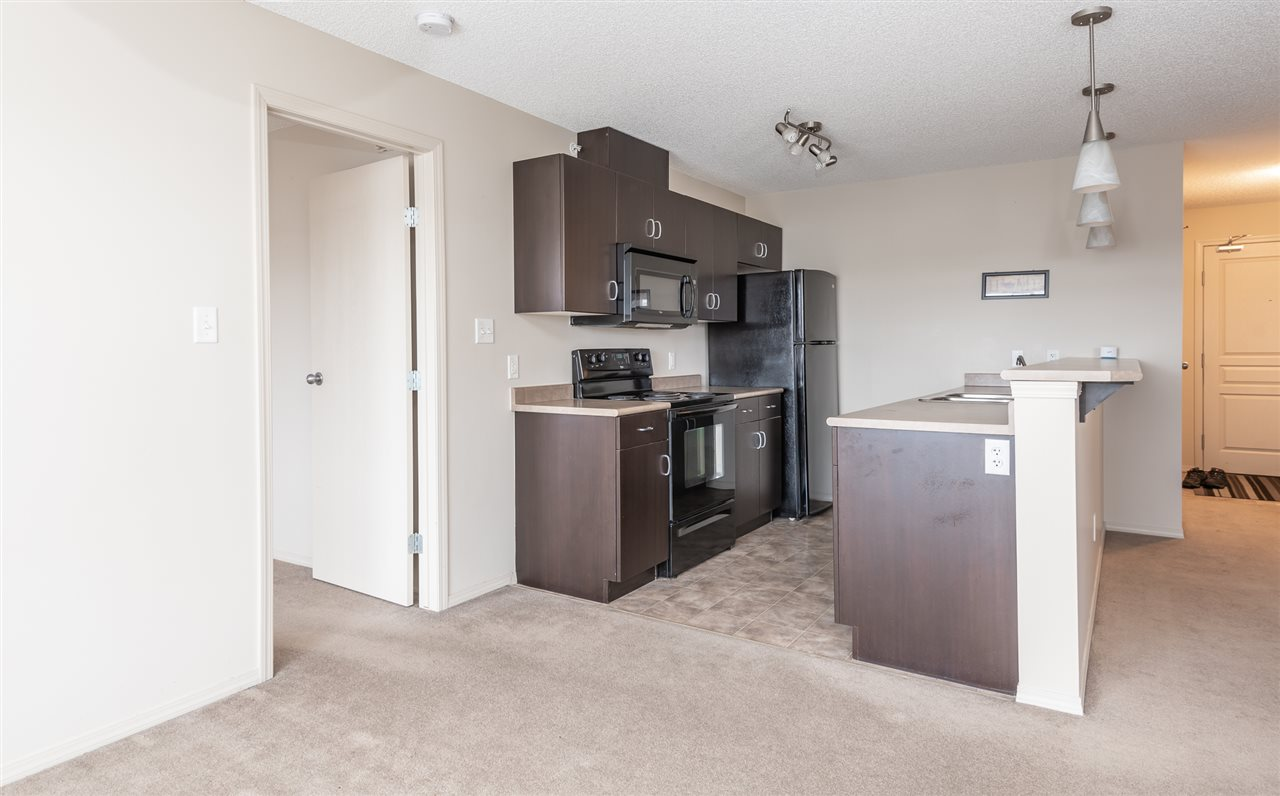 Location, Location , Location! Close to the Yellow head freeway, public transport and the Anthony Henday! Huge one bedroom plus den with two bathrooms. Southwest Facing top floor unit offers an abundance of natural light!  One of the best deals in north east Edmonton. If you are a first time home buyer or investor look no further.