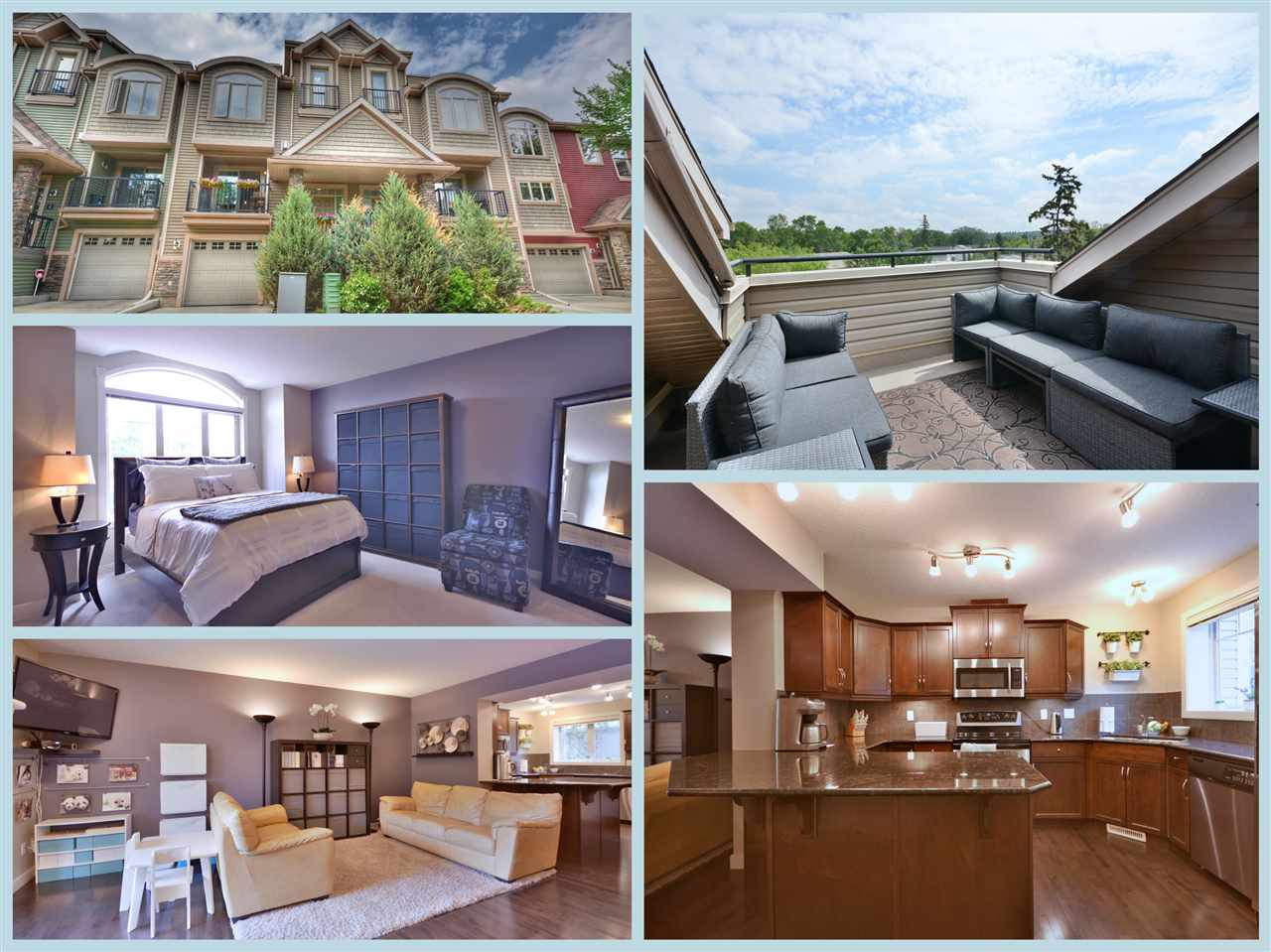 INCREDIBLE EXECUTIVE 3-STOREY TOWNHOME JUST MINUTES FROM DOWNTOWN EDMONTON WITH 4 BED, 3.5 BATH, DOUBLE ATTACHED GARAGE, AIR CONDITIONING AND ROOF TOP PATIO! Discover your favourite new neighbourhood RIVERDALE, voted one of the most desirable to live in, take a walk/bike around the numerous KM?s of city parks, RIVER VALLEY trails! RIVERDALE POINTE is a unique little community within a community with cottage inspired design, zero maintenance living and private front access/attached garages. Best feature include top to bottom upgrades, open concept living room, outdoor access on almost every level, 4 bedrooms with 3 full baths perfect for young families, 3rd floor loft with full bath perfect for guest or office and loads of storage space in the garage and basement. Everything you want in a home with the square footage you need with bonus ROOFTOP PATIO in the best possible neighbourhood and in a price you can afford! Take a look today and get ready to move right in!