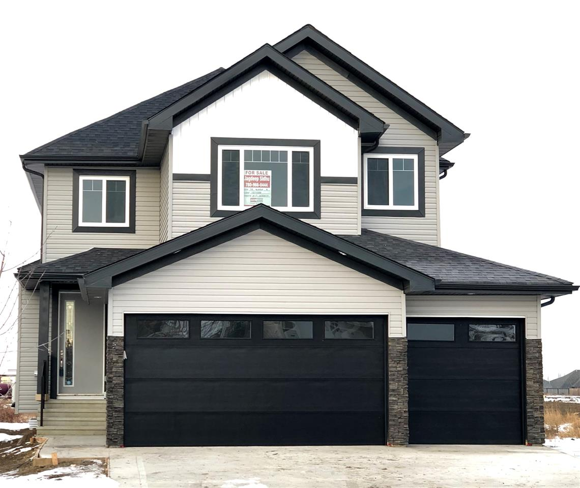 PERFECT PACKAGE- PLACE CHALEUREUSE- BRAND NEW 2 Storey + Basement, TRIPLE GARAGE 2626 sq ft, 4 +1 BDRM + BONUS room home. Main floor has open concept Great Room with cofferred ceiling, modern upgraded kitchen with walk thru pantry/mud room, Bedroom/Den and 3PC BATH ON MAIN. 4 bedrooms, 2 baths, laundry and spacious Bonus Room with Vaulted ceiling upstairs. Master has luxury 5 pc en-suite with his and hers sinks Shower with BODY JETS and huge Walk in Closet. Lots of upgrades including modern kitchen with QUARTZ counters thru out the house.California Closets, Linear Fireplace, extensive wood work with built in organizers. Bright basement has separate side entry 9 ft ht and roughed in for extra bath and kitchen for future ideas/finishing. Close to all amenities, easy access to all major routes, South Edmonton, Airport, Leduc. New Home 2-5-10 year Warranty. $5000 Appliance Allowance.