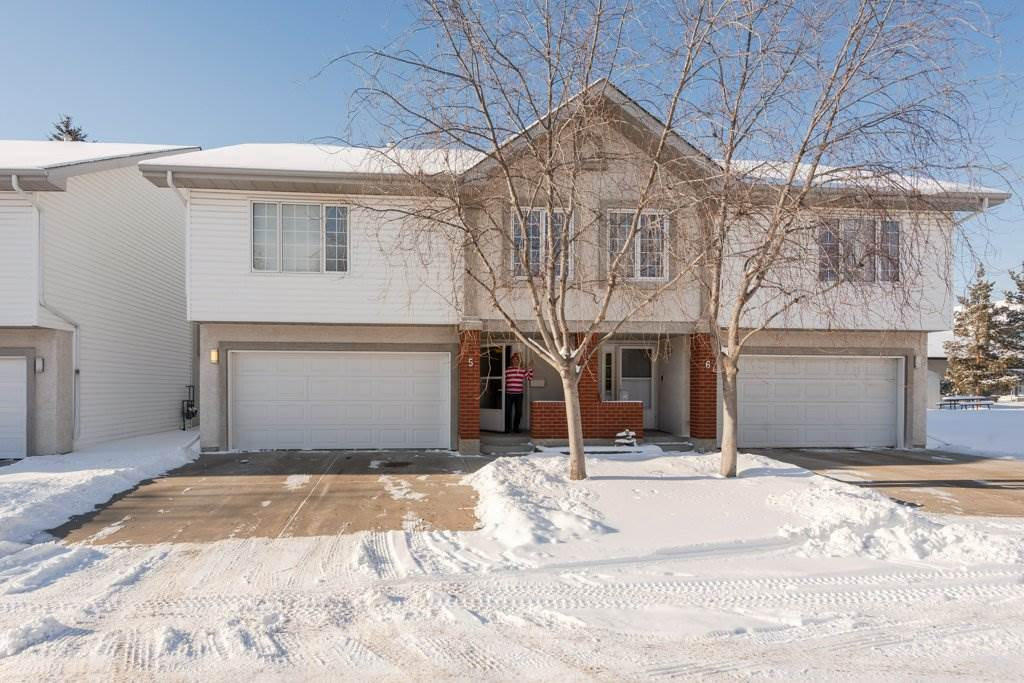 Hey Sherwood Park, Waldo is moving! Don't miss your chance to get into his great 3 bedroom townhouse with a double car attached garage. Open concept, lots of windows and great sunlight, even central air conditioning!. Large 16x12 composite deck. King sized master with ensuite. Walkable to amenities & easy access to Baseline and Yellowhead. Please note, this property has been smoked in and will need a good scrub/paint, but the price reflects it.