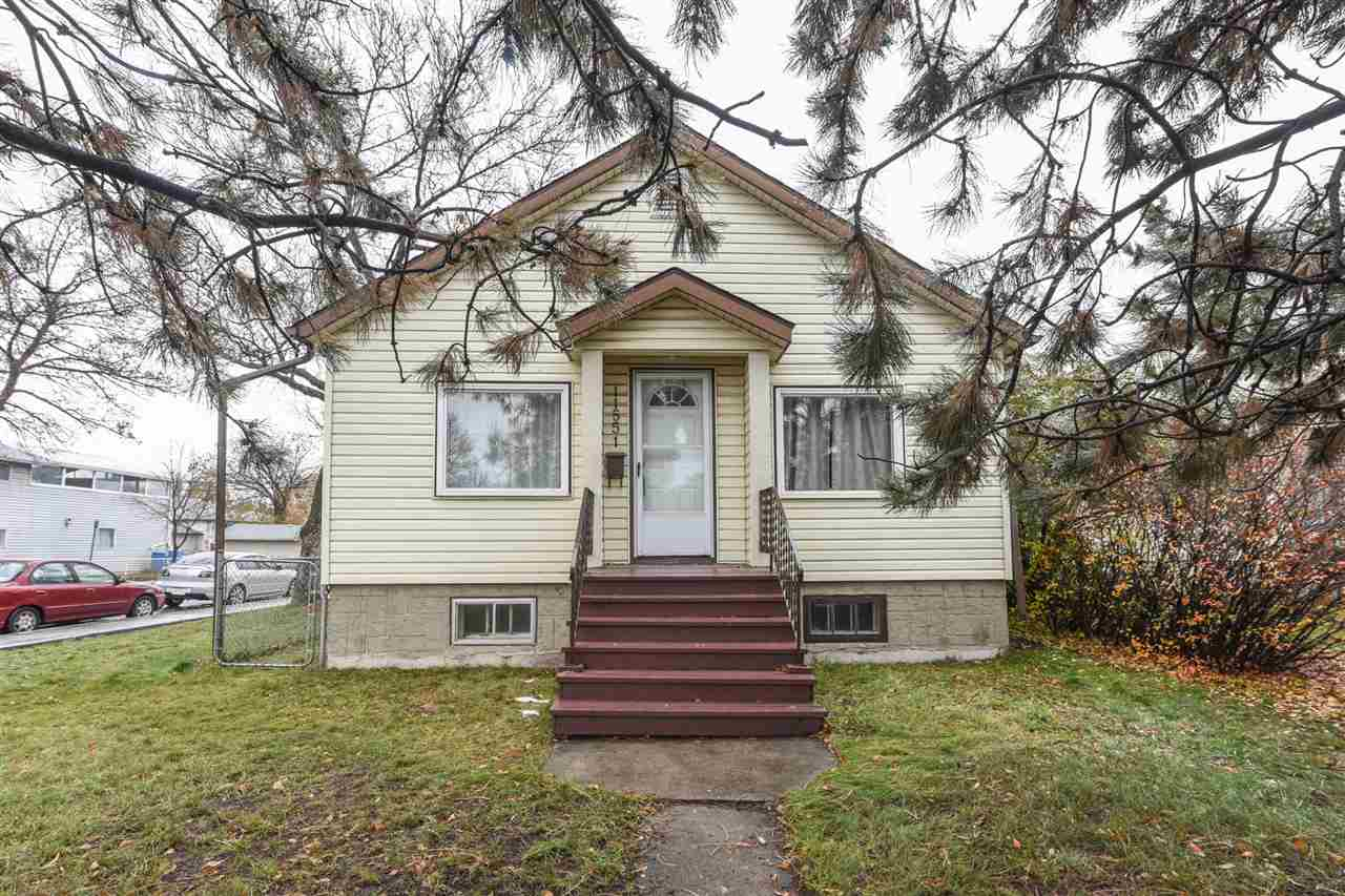Prime location! Centrally located close to the LRT this bungalow has a lot of potential! The main floor features a large living room, dining nook, white kitchen, main 4 pce bathroom and two spacious bedrooms. The basement is partially finished with a large rec room and lots of storage space. Newer HIGH FURNACE and newer HWT. Oversized single detached garage situated on a large lot! A few upgrades would make a great home or could be a great infill project in an up and coming neighborhood! Transportation steps away, close to shopping, NAIT, schools, the Yellowhead Trail and Downtown. RF3 Zoning. DON'T MISS OUT ON THIS FANTASTIC OPPORTUNITY.