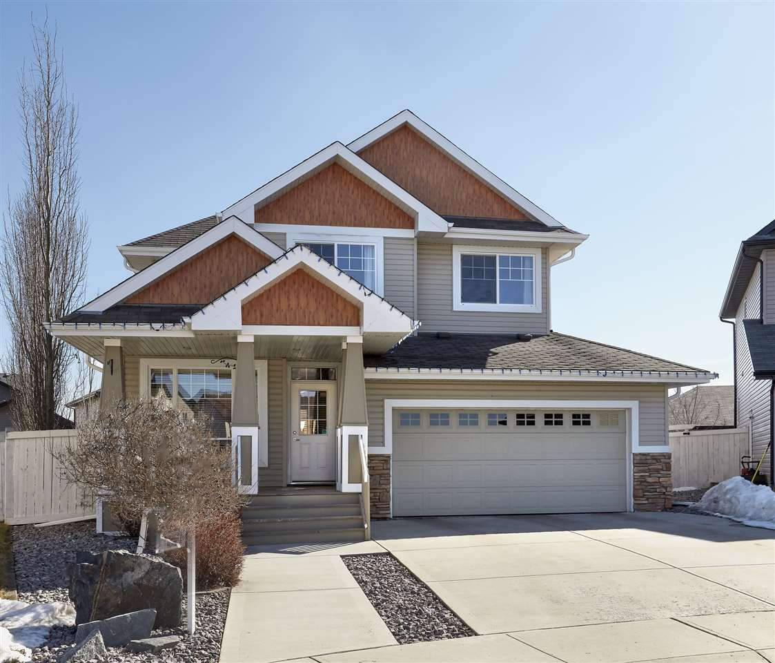 Quiet cul-de-sac location in South Terwillegar! This 2008-2 storey home has over 2001sqft plus a fully finished basement totalling 2968sqft of finished living space PLUS-DOUBLE ATTACHED GARAGE & an OVERSIZED DOUBLE DETACHED GARAGE (25ft X 25ft)?3+1 bedrooms,Den/Office,3.5 bathrooms-all located on a large pie-shaped lot!  Entering the home you will floor to ceiling windows on the main floor allowing for natural light to flow throughout. Continue on into the living room with gas fireplace & open to the stunning kitchen with large island, ample cabinet & counter space,pantry & large dining area. The office,½ bath & large laundry/mud room complete the main floor. Upstairs the master suite is spacious with a 5 piece ensuite & walk-in closet. Beds #2 & #3 are both a great size & 4 piece bath completes the 2nd level. Downstairs the family room has a gas fireplace,bar, fitness area, 4th bed & 3 piece bath.  Outside, you will love the fully landscaped yard & double detached garage with 16? vaulted ceilings & more!