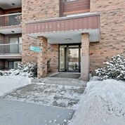 "Incredibly well priced! PROFESSIONALLY RENOVATED throughout. Corner condo with a spacious balcony overlooking the park and new patio doors. Enjoy the large living room and the storage opportunities within the condo. A great opportunity to own in a small well managed building that is almost all ""owner occupied"". Rare to have a building of this nature that is close to all the amenities and very well maintained. The LRT and stores are almost at your doorstep. Concordia, the University, downtown access are all within easy reach. The river valley trails and parks are minutes away to be enjoyed year round."