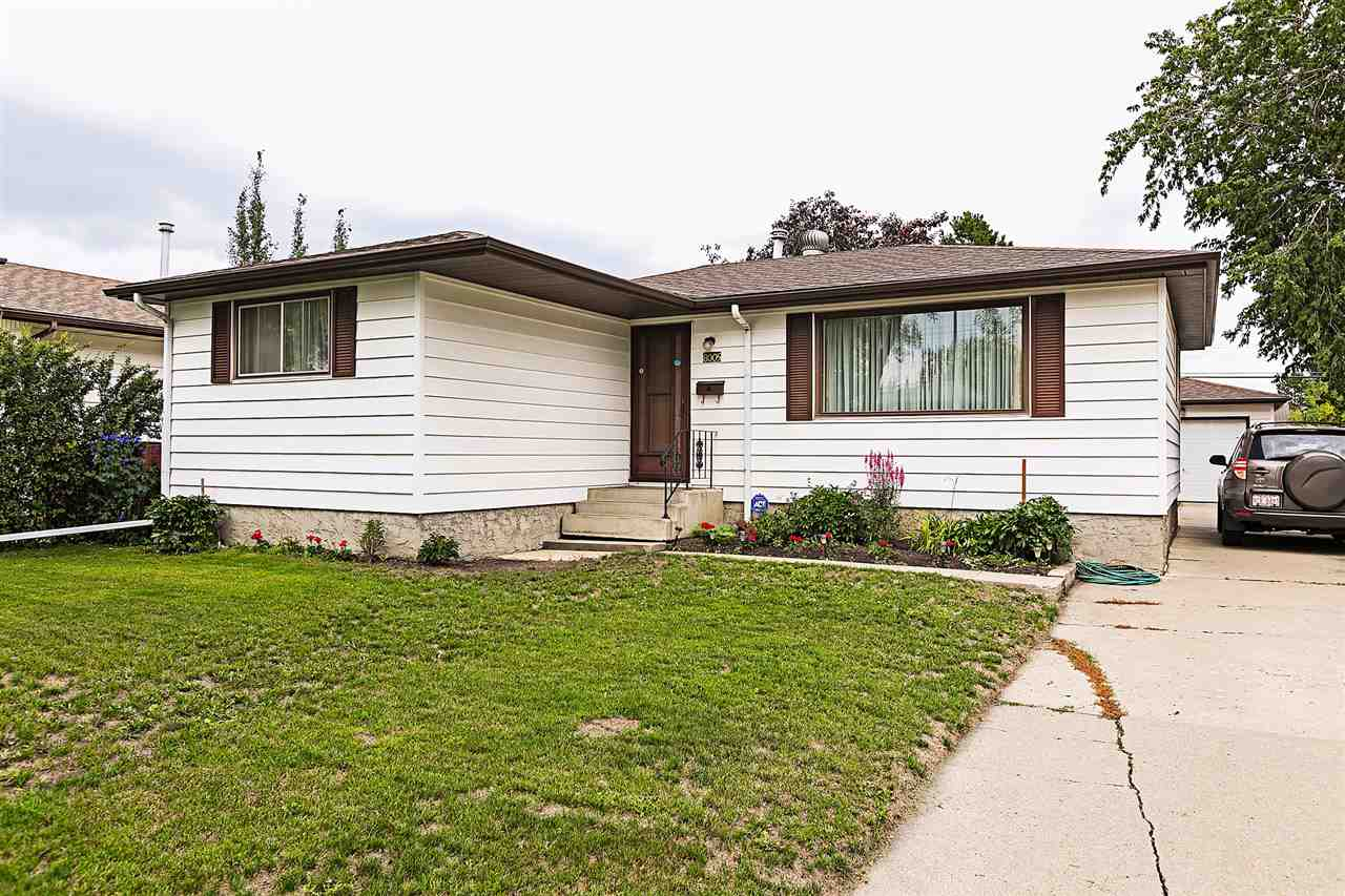 FANTASTIC ELMWOOD BUNGALOW!!! This well maintained 3 + 1 bedroom home offers a finished basement, insulated heated detached garage and is situated on a LARGE lot, walking distance to 3 schools, close to public transportation, the White mud, West Edmonton mall, and all the amenities!!!