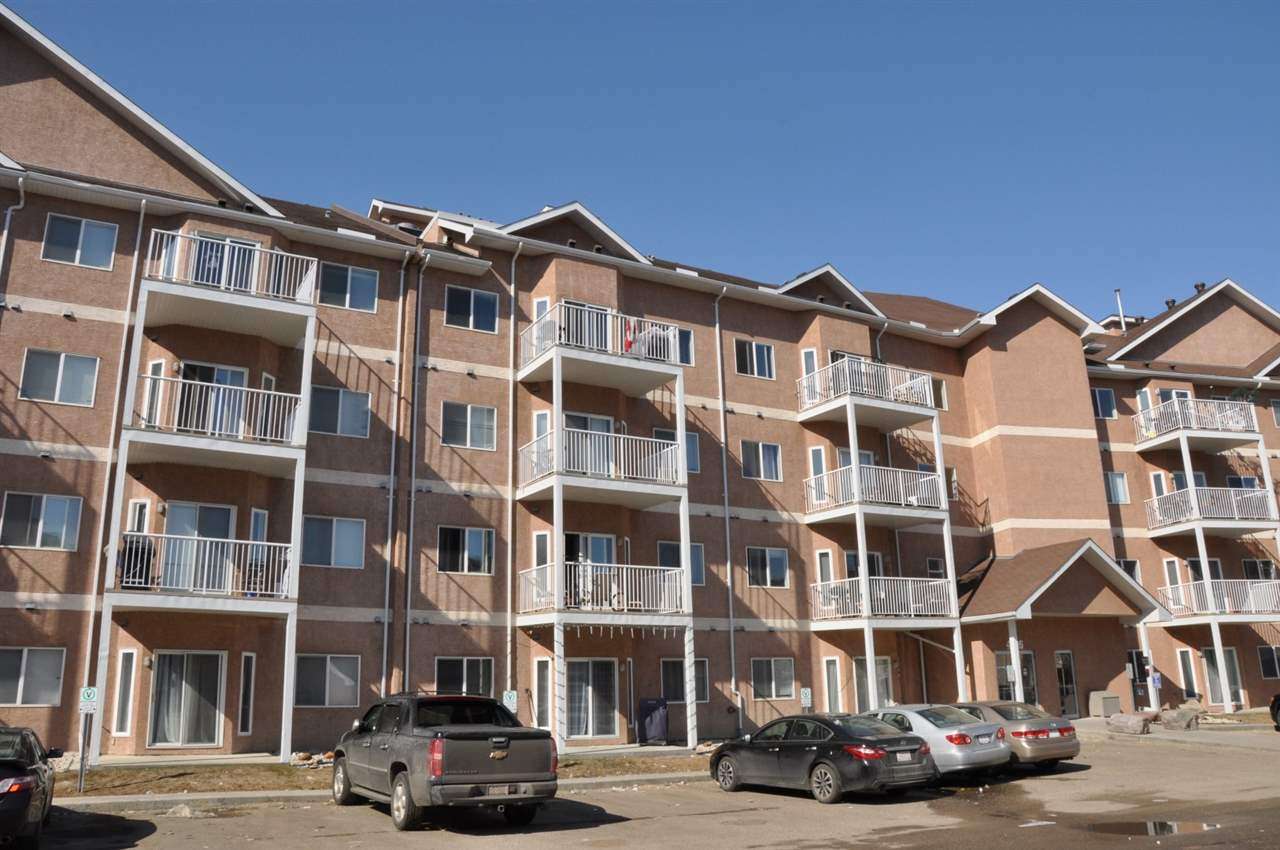 Bright and open top floor one bedroom with den and two parking stalls just steps to the LRT and Clareview Recreation Centre!  Featuring a large kitchen with plenty of storage, newly installed flooring, in-suite laundry, and comes with all appliances!  This unit includes an assigned underground parking stall, storage cage, and a titled above ground parking stall.  On the deck there is also a natural gas hookup for your BBQ.  This complex boasts an exercise and games room and is truly a must see!