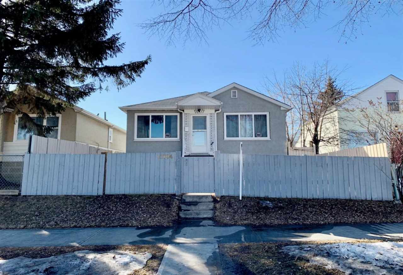 Welcome to this Incredible Bungalow features total of 4 Bedrooms, 2 Bathrooms & Single Detached Garage!  Main floor features Large Living room with Bright Windows & Nice Hardwood flooring. Spacious Kitchen comes with Gorgeous Kitchen Cabinets & SS 2-doors Fridge. 2 Sizable Bedrooms all with Hardwood floorings. 4pc Bathroom with newer Vanity. SEPARATE BACK DOOR ENTRANCE to FULLY FINISHED BASEMENT offers 2 Bedrooms, rough in kitchen, Cupboards, Sink & Counters, Bathroom & Laundry room. House were updated several years ago that City has given it an effective age of 1975: Painting, Hardwood floorings, Kitchen, Furnace, Hot Water Tank, Shingles, Fence, Side Walks, Road Resurfacing, Basement finished in 1998 ........Fully Landscaped & Fenced Yard. Easy access to Bus Stops/LRT/Shopping C/Schools/Nait/Downtown & all amenities. Ready Move-in Condition. Quick Possession available. Perfect for Home Buyers or Investors!