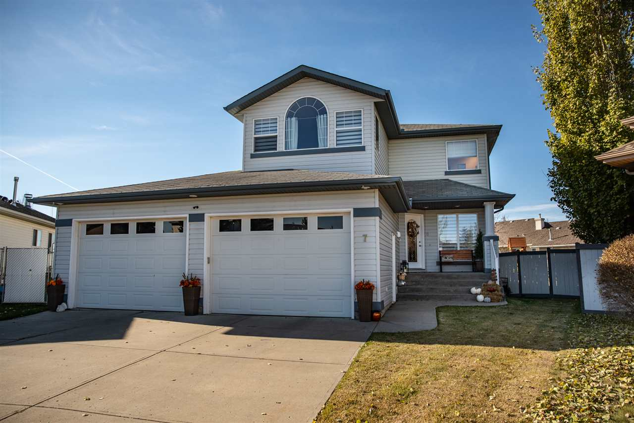 Proud to list this one-of-a-kind opportunity in the established neighbourhood of Deer Park in Spruce Grove! Triple heated garage? Check! Fully finished home with 6 bedrooms? Check! Biggest private yard ever?? CHECK! CUL-DE-SAC Location?? CHECK!! $80,000 in upgrades in the last 2 years and completely ON-POINT design? Check! HOT TUB? Incredible deck?? NEW IN GROUND SPRINKLER SYSTEM? Totally unique layout? AIR CONDITIONING..GAH!! THERE'S TOO MUCH!! Biggest stand out of this home is the QUALITY OF LIFE it offers; It's in a mature neighbourhood, with a great community/FAMILY feel. You WILL NOT get that in a newer build. Because it was built in the early 2000's, its DESIGN is totally unique; TWO living spaces on the main floor, wood burning fireplace, Huge Kitchen and MASSIVE Walk through pantry/extra storage space. 3 Beds up, bonus VAULTED room, HUGE MASTER and 5pc ENSUITE! Downstairs COMPLETELY REDONE with 3 rooms, JACK and JILL bathroom, new carpets and family room! THIS IS THE WHOLE PACKAGE RIGHT HERE.