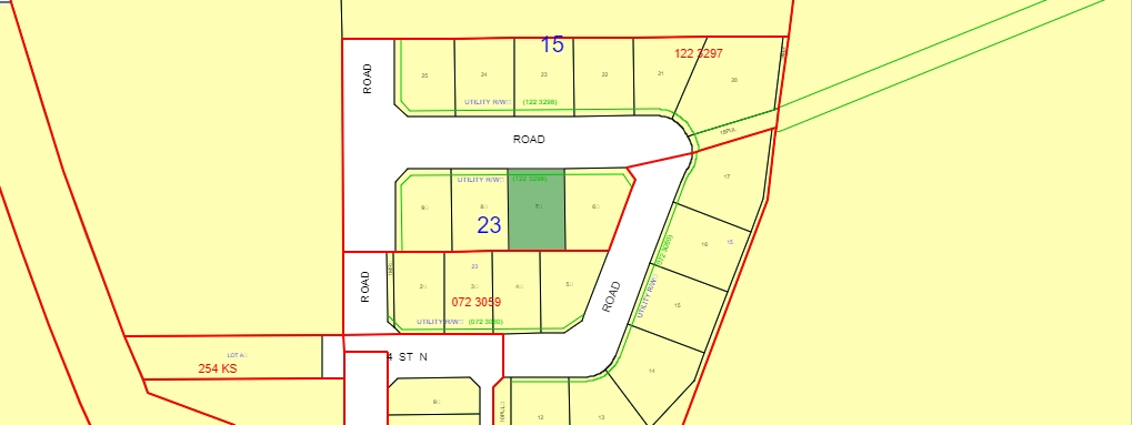 """""""DEER CROSSING ESTATES LOTS."""" Lot 7 Located in the Village of Breton, approx. one hour SW of Edmonton . No time requirements on building so, when you're ready, build your dream home in this beautiful new subdivision in the Village of Breton which combines extensive retail, professional & community services with peaceful rural lifestyle living. An easy commute to Drayton Valley, Leduc/Nisku, and the international airport, Breton is located within 1/2 hr drive of both Pigeon Lake, Buck Lake, and a variety of area golf courses, providing recreational enjoyment for every season of the year. GST is included in the price and the Village will put in a driveway on each lot."""