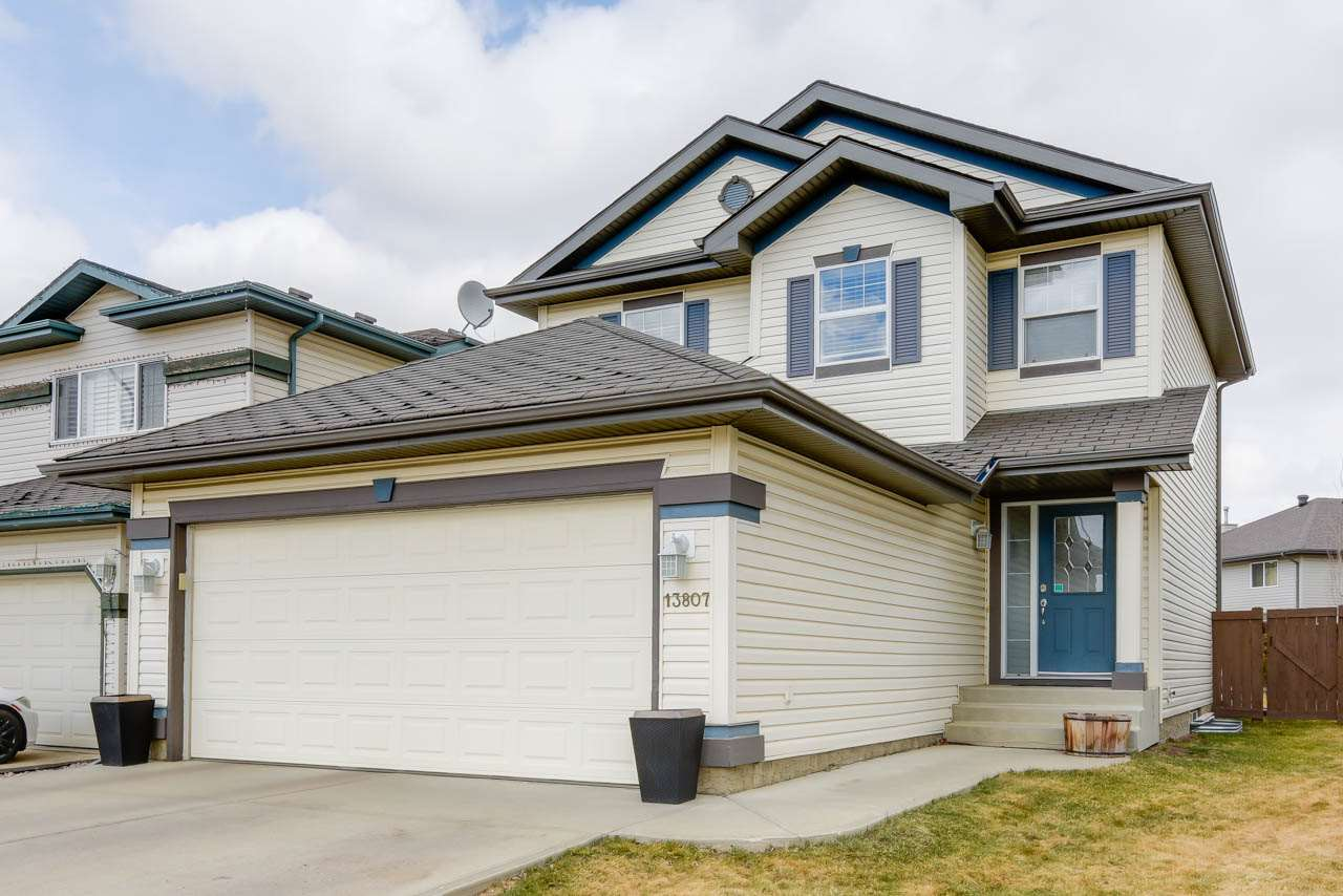 Live within minutes of major routes and shopping yet tucked within the serene cul-de-sac Cumberland has to offer. This well maintained 1484 sqft 2 storey offers 3 beds up including a Master Bedroom Retreat with walk-in closet and separate tub and shower in the Master Bathroom. HARDWOOD flooring, main floor laundry, beautiful kitchen with corner pantry and with built in vacuum system that has a floor vent right in the kitchen! Open floor plan for entertaining, and amazing size back deck for outdoor living! The home also features a security system, central air conditioning and gas line for the BBQ of course access to all of Cumberland's parks and pathways. The front driveway is extra long and could fit an RV! Double attached garage. Only steps away from public transportation and walking distance to school K-9. Within 5 minutes to the Henday. Move in ready, just unpack and enjoy the rest of the summer.