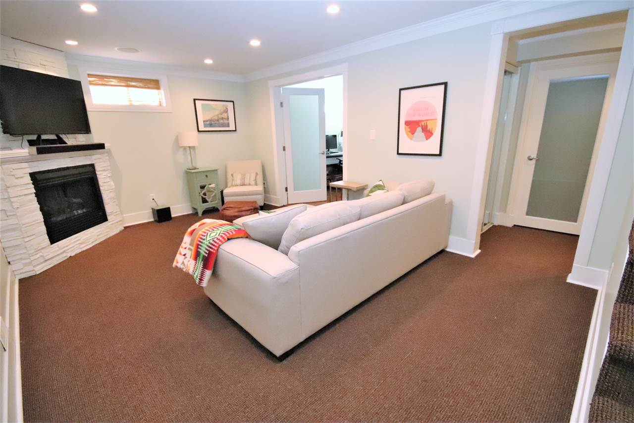 The fully finished basement has been professionally done and is a comfortable space to relax and unwind.