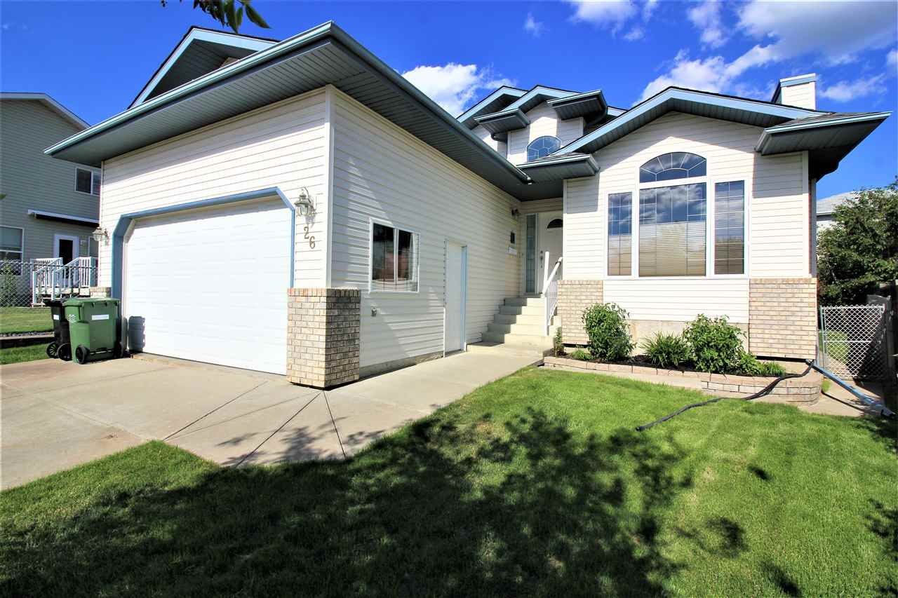 "MEADOWVIEW-Enriches Your Family?s Life in One of Leduc?s Most Well Established and Mature Communities. This ""SherBilt"" Home Provides a Complete Range of Family Comfort for Informal Living But Also the Right Degree of Space, Storage & Functionality. FEATURES: Modern Bungalow Design Maintains a Functional Flow Throughout. 5 Bedrooms-3 Up & 2 Down. Master is Complete with Walk-In Closet & Ensuite Bath. The Fully Developed Basement Offers a Large Rec Room & Plenty of Space & Storage.  Vaulted Ceilings & Abundance of Natural Light Invokes a Sense of Space & Openness. Additional Features: Convenient Main Floor Laundry. Double Garage-Insulated & Drywalled. Convenient Rear Deck w/ Natural Gas BBQ Line. Plus Concrete Patio Area & Side Walk. Beautifully Manicured Yard Site Compete with Gorgeous Water Feature. Shingles Replaced June 2018. HWT Replaced in 2017. Ownership Incl: Central Air System & Built-In Vacuum System.This Property Exemplifies a Clean, Well Maintained, Solid Home Where Pride of Ownership is Evident"