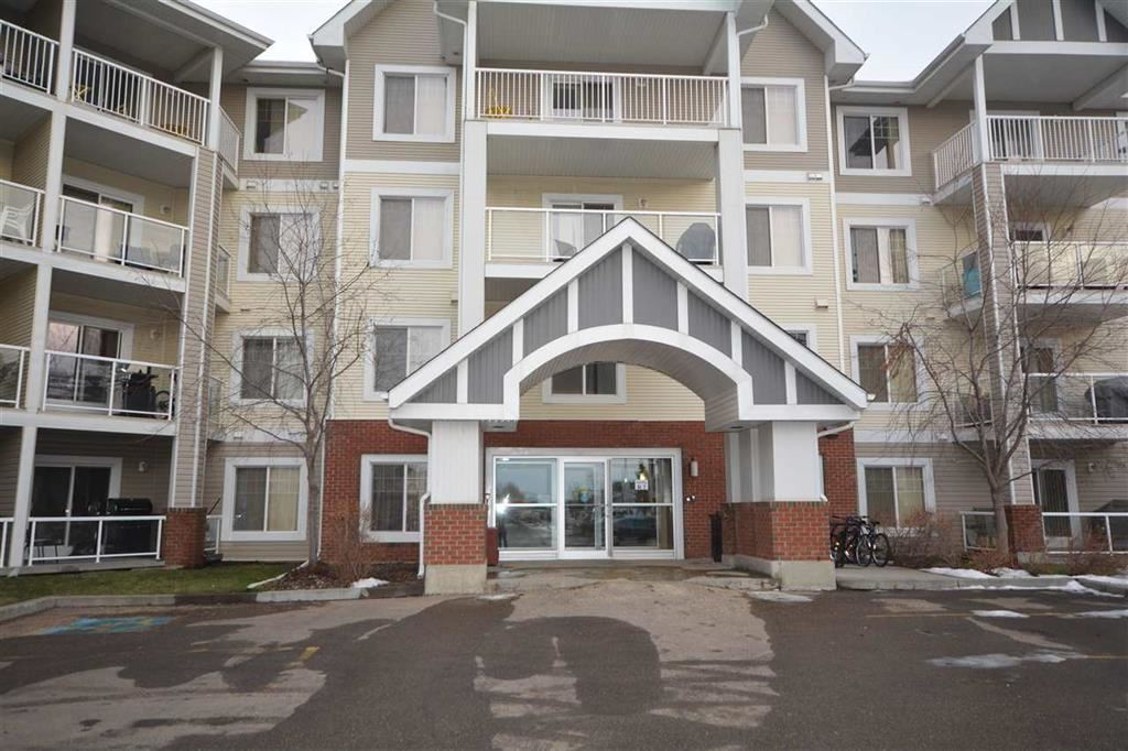BRIGHT & SPACIOUS, CORNER UNIT in Skyview Landing!  Amazing features include WRAP-AROUND DECK, TITLED UNDERGROUD PARKING, IN-SUITE LAUNDRY, HUGE OPEN PLAN, and OVERSIZED WINDOWS with SOUTH & WEST EXPOSURE.  2 good sized bedrooms & 2 full bathrooms.  Upgraded kitchen with lots of maple cabinets & oversized eating bar; perfect for entertaining.  Tons of sunlight streams into the spacious living & dining areas creating a warm cozy feel; all throughout the day.  Sliding doors lead to your covered wrap-around deck with GAS LINE FOR BBQ.  Master bedroom offers large walk-through closet & ensuite with oversized shower.  Enjoy working out & entertaining in the building?s FITNESS ROOM & AMENITIES ROOM.  Just a few convenient steps to both guest & handicapped parking.  A locked, heated storage unit is just down  the hall.  Easy access to shopping, schools, public transit & walking trails. PET FRIENDLY (small pets) with board approval.  Great access to the Edmonton Garrison, Anthony Henday & St. Albert.