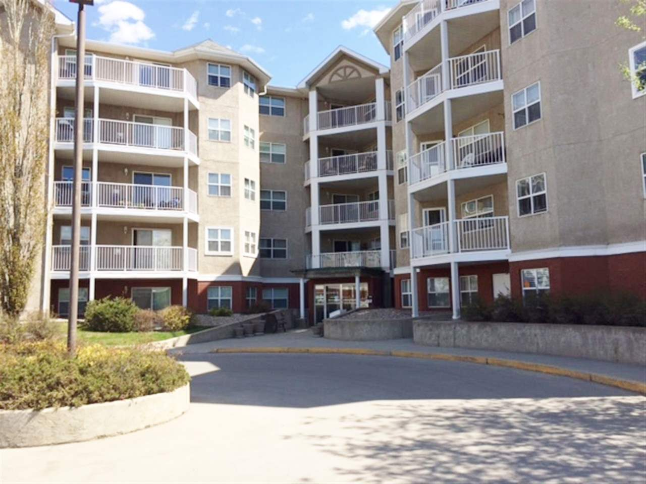 Welcome to Melrose Court (8315 - 83 Street) located directly across from Bonnie Doon Mall. This exceptionally well-maintained condo is 1,022 sq. ft. of elegant living space with a SE view from this main floor unit. 2 bedrooms, with walk through closet, 2 baths with 2015 walk-in-bath-tub/Jacuzzi tub. Large living room with a corner gas fireplace. Very functional kitchen with plenty of room for a dining room table. 3 ceiling fans will keep you cool during those hot summer nights. 5 appliances included - stacked washer/dryer. Recent improvements include: balconies, railings, windows, plumbing and shingles. Heated underground parking with a storage locker. Condo fees include heat and water. Melrose Court includes a party/social room with kitchen and fireplace, guest suite, car wash and visitor parking. Adult 50+ building, pet friendly and future LRT location. Close to all amenities including Whyte Avenue, shopping, restaurants, U of A and all the south side of Edmonton has to offer.