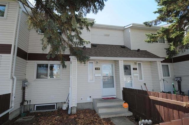 Perfect for first time buyers or investors! Unit is move in ready, clean and has been well maintained. Many recent upgrades; new high efficiency furnace and hot water tank, flooring in master bedroom, kitchen and main bath paint, newer shingles (2015), windows (2002) and siding. Living room features a corner stone facing fireplace with mantel. Kitchen has ample cupboard space and counter space with adjacent dining area. Convenient 2-piece bathroom and broom closet complete this level. The upper level offers a master bedroom with walk in closet, 2 more bedrooms and a 4 piece bathroom. The basement is fully finished with a recreation room, laundry room with full size washer/dryer, and lots of storage.A private south facing backyard with fire pit and 2 sheds. Two parking stalls right in front of the home, close proximity to amenities, shopping, schools, parks, public transportation, and Henday & HWY 16. Located in the well taken care of complex of Canon Ridge. Come see it, you won't be disappointed.