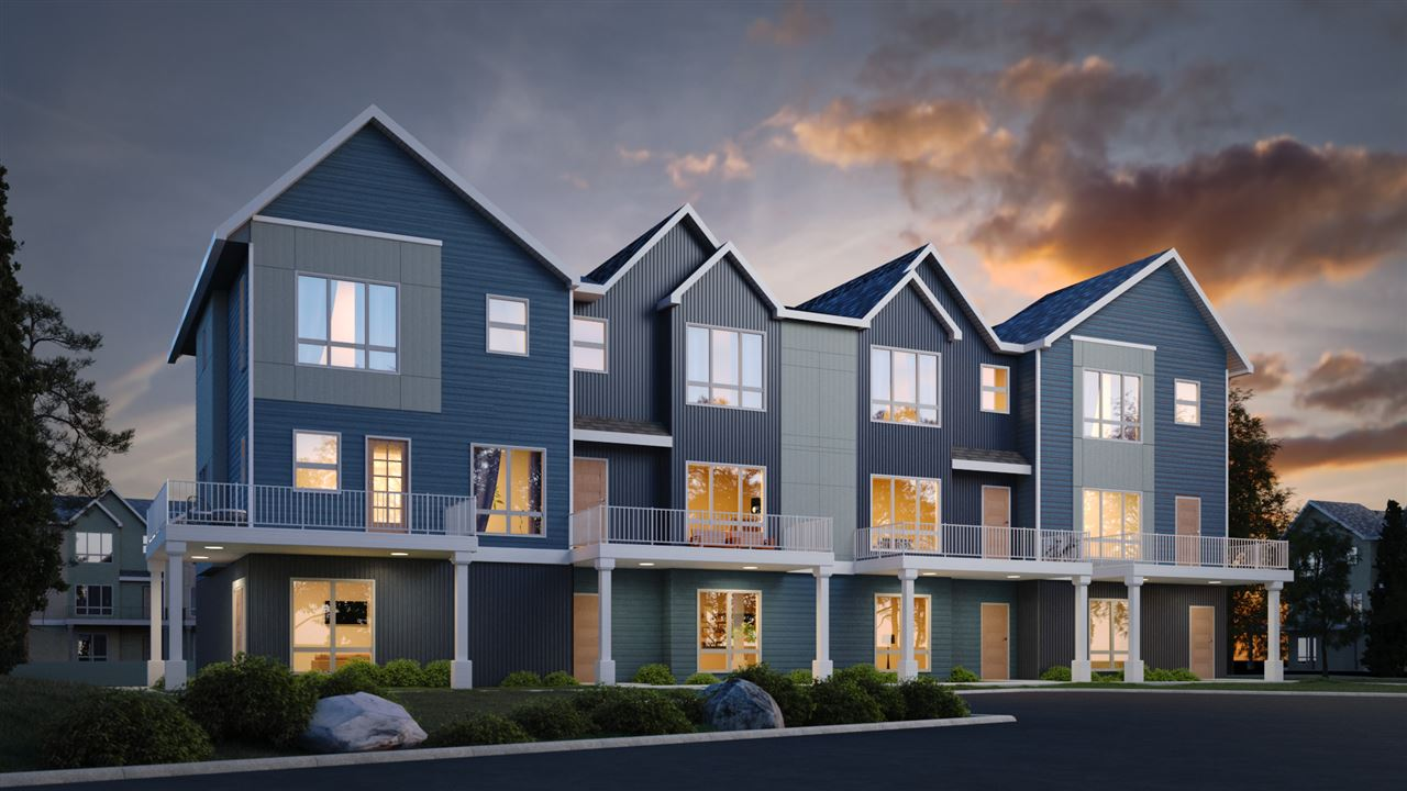 Presenting your new Peak 39 Townhome in the vibrant community of Crystallina Nera.  The Alpine unit will dazzle you with its use of 1668 SF spanning over three floors with 3 bed, 2 and 1/2 bath. The main floor has a two car garage, and a flex room spacious enough to leave your imagination buzzing with ideas. The second floor boasts 9ft ceilings, quartz countertops, luxury vinyl plank flooring and beautifully designed cabinetry. The third floor dazzles you with its show stopping master bedroom complete with an ensuite and spacious walk in closet! Two additional bedrooms, full bathroom and laundry room complete the third floor. This neighborhood is conveniently situated close to the all the amenities, with the Henday a few minutes away. Perfect for a growing family, first time home buyers or even down sizers! Please note interior photos are of the show suite not the actual unit listed here for sale.