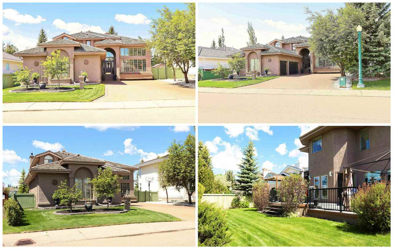 "A Rare Opportunity!!!! This TRIPLE CAR GARAGE ""heated"" home is backing onto Wedgewood PARK in the desired comm of WEDGWOOD HEIGHTS. The main flr features 9? celling, Den, Laundry, NATURAL maple flring, ceramic tile, w/a massive living rm w/20 ft ceiling. Immense fam & din are beautiful w/tall windows overlooking the patio & the Private Park. The OPEN kitchen c/w TALL cabinets, a corner pantry, lrg island w/exotic Granite Countertops & Stylish appliances. The MAPLE Grand Staircase will lead you to upper flr to a lrg luxurious master bedrm that c/w a walk-in closet & a 5 pc.ensuite. The UPPER flr also c/w maple flring, two additional bedrms, a second full bath. The Lower level FULLY FINISHED c/w rec room, bar, full bath & a bedrm. HUGE ?PRIVATE? PIE shaped lot w/ East West Exposure w/composite patio, sprinkler system, HOT TUB, & Gazebo. Close to Walkways, Play Park, Tennis Court, shopping CTR, great access routes to Henday & Whitemud. The sellers are offering $10,000 cash on closing towards appliances."