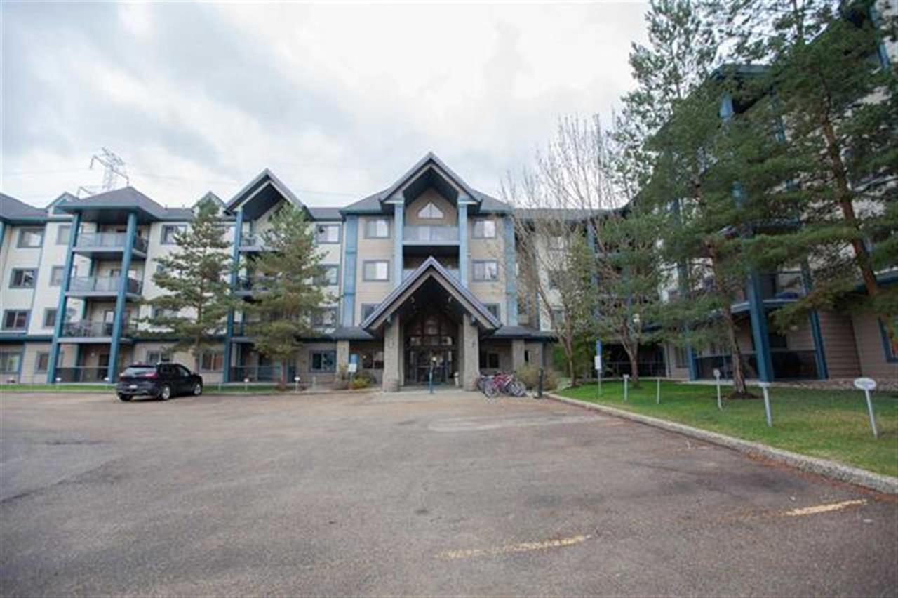 Gorgeous three bedroom corner condo unit in the prestigious Hodgson community. This was the original show home for the complex with two titled underground parking stalls (one is actually a stall and a half). This spacious condo unit is 1,250 sq. ft. with 3 bedrooms, 2 bathrooms, with mirrored closet. Gallery kitchen with full appliances and breakfast bar. Spacious dining area and living room with corner gas fireplace. The master bedroom offers a walk-through closet with dual mirrored doors and a three piece en-suite. Two more good sized bedrooms plus one 4 piece full bath, and in-suite laundry. The building complex backs onto serene green space with quiet walking trails. Building amenities include exercise room, library, guest suite and social room. Conveniently located close to all amenities with easy access to the Whitemud and Anthony Henday freeways. All furniture is included except dining room table/chairs and high chairs...