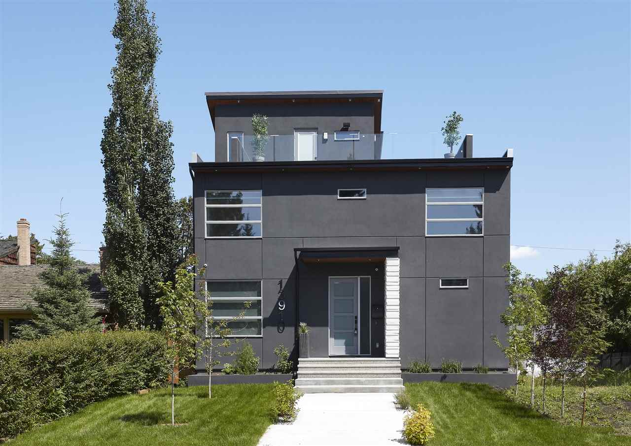 Incredible location facing a park & fantastic views from the ROOF TOP PATIO!!!  This 3 storey home has 4 bedrooms, 4.5 bathrooms, Movie Room, office & more - 2779sqft plus finished basement totaling (over 3873sqft of finished living space), triple detached garage - high ceilings for a car lift! Entering the home you will love the floor to ceiling windows & natural light flowing throughout the main floor. Continue on into the European inspired kitchen with Pro-Style JennAir appliances, 10 foot island, stunning cabinets with an incredible amount of storage.  Open to the kitchen is the spacious living room with 16 foot ceilings & fabulous fireplace with lamborghini tile! The open riser stairs lead you to the 2nd level with 3 beds ? spacious master bedroom with 5 piece ensuite & private deck. Beds #2 & 3 are both a great size! The 3rd level ? bonus room with wet bar & ½ bath ? step outside & fall in love with the INCREDIBLE VIEWS! Downstairs the movie room, family room & bar are perfect for entertaining!