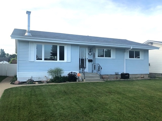 Great family home!! Close to schools, parks, golf, and easy access to the Yellowhead Trail & Anthony Henday.  This beautiful bungalow has 3+2 bedrooms with plenty of upgrades: Kitchen less than 2 years old, and brand new appliances! Shingles (2014), Furnace (2014), Instant Hot Water Tank (2014), Air Conditioning (2015), Windows (2016), Vinyl Fence (2016). Large backyard is extremely well maintained with a 20x12? shop that?s even heated with 220V power!! There is even a large parking pad/RV parking with plenty of room for a future garage. Don?t miss out on this great opportunity!