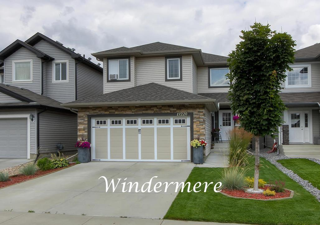 """Welcome home to this beautifully appointed three plus one bedroom 2-storey home found in an excellent location with great access to the Henday, YEG, several golf courses, the walking trails of Langdale Park, and all the amenities at """"The Currents at Windermere"""". Features include a lovely open floor plan, updated bathrooms and kitchen with quartz countertops and a movable kitchen island, and a beautifully manicured and landscaped yard and deck with a gazebo. There is brand new basement development that includes a recreation room, a bedroom, a 3-piece bath, a gorgeous laundry room and a built-in office area. A double attached garage completes this great family home.  With the most current finishings and a great locations, there is nothing to do but move in!! Pride of ownership is evident making this home a must to view!!"""