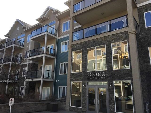 Superb location and this condo in Scona Gardens delivers value. Whyte Ave, direct access to the U of A, Downtown, River Valley the excitement of Old Strathcona with markets, restaurants, shopping, festivals, theater and yet it's tucked away in a private quiet corner! This spacious 2 bdm and 2 bath has a roomy foyer and a welcoming kitchen & features granite, lots of prep space, plenty of cupboards, pantry, breakfast bar & separate dinning nook. The bright living room offers a corner fireplace & access to a large balcony with gas line + and a west exposure. Master Bedroom is impressively large with ensuite bath and walk in closet an equally spacious 2nd bdrm, 4 pce bth and in-suite laundry with storage rounds out this home. Perks of underground secured parking, wash bay, well equipped gym, guest suite, bike storage & underground secured visitor parking. Awesome grounds with lots of trees.