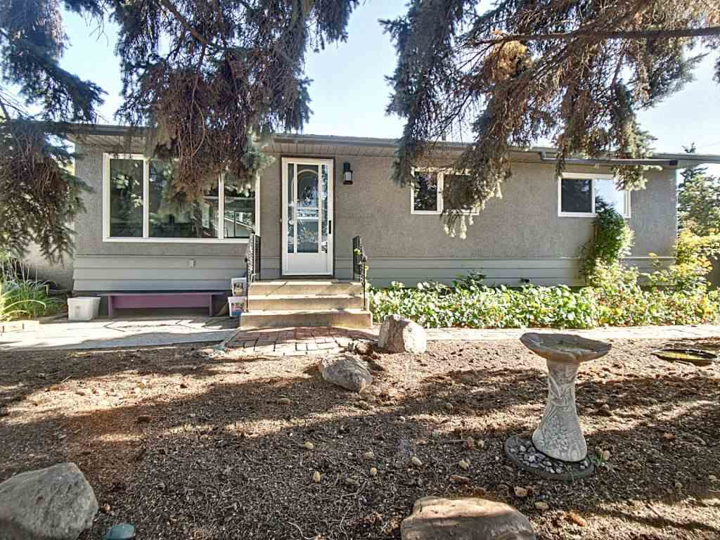 Bright upgraded open concept bungalow in popular Kenilworth. Kitchen has soft close cabinets and Quartz countertops that includes a 9 foot peninsula with seating for 8, stainless appliances, most of the windows replaced on the main floor in 2015 and 2016.Updated bathroom in the basement (built to accommodate the tall family members)Upgraded insulation in the attic. All the lighting in the house is LED other than the storage space under the stairs. HUGE lot over 11140 sq ft. Enjoy the sunshine on your brick patio in the massive south facing backyard. There is a double garage wired and heated the overhead door was replaced in 2017. Easy access to the back yard with a swing gate built into the fence to store your RV. (no over head lines going through the middle of the yard) Easy Access to Anthony Henday, close to UofA, Old Strathcona, Downtown, Bonnie Doon, Capilano and Public Transit.