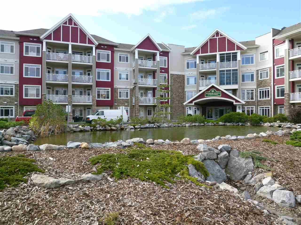 """This great +55 Condo located in the Heart of Spruce Grove, Close to Rexall Centre and all amenities has plenty to offer. The 2 bedroom unit has 2 baths and open space for living room and dining area. Stacked Washer and Dryer in the laundry room comes complete with California closets for laundry sorting. The Master bedroom has an ensuite with large shower and walk-in """"California"""" Closet. The balcony faces North and is quiet and very enjoyable. The Hardwood and Granite Counter Tops finish this unit very well. Once you have admired the Apartment the amenities in the complex are second to none. Large Theater room for family get together's, plenty of activities through out the week to enjoy and also a large Entertaining area with a kitchen for the big Christmas Party. This is great place with plenty to appreciate for that later season in life."""