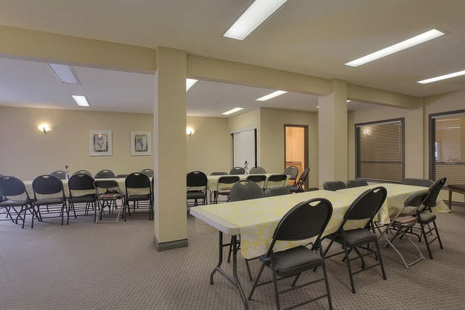This is the combined social room in the B building... This room is a great spot for a family party... You cannot send the kids to use this space unless they have somebody 18 or over to supervise them.