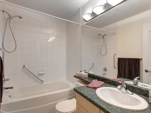 The utility/laundry room is by the entrance way. It is bigger than many in the complex. You can add shelving as per your needs or cabinets if you prefer. It is always great to have in suite storage space in addition to your storage cage in front of your parking stall which is # 239 again close to the elevator.