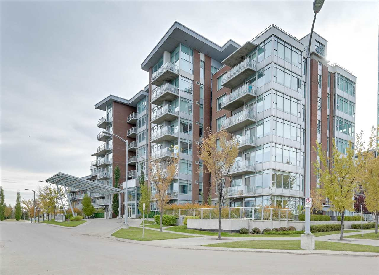 UNBEATABLE LOCATION of Century Park is this EXECUTIVE UPSCALE condo. SOUTH facing unit with plenty of LARGE WINDOWS and natural light. Kitchen includes S/S Appliances, gas-cooktop, built-in oven, breakfast bar, granite counters and pendant lighting. Bright living area with a COZY GAS FIREPLACE and PATIO DOOR opening to the SPACIOUS BALCONY with a BBQ gas line. KING-SIZED MASTER bedroom with his/hers closet 5-pce spa-like ensuite equipped with soaker tub, GLASS RAIN-FOREST SHOWER, DOUBLE sinks and Kohler fixtures. There is a spacious second bedroom and 4-piece bath down the hall, and in-suite laundry. Both bedrooms OVERLOOK the COURTYARD. Regent Century Park has a large exercise room and grande front lobby, HEATED UNDERGROUND PARKING, and STORAGE CAGE. WALKING DISTANCE to Century Park LRT station, shopping, medical offices, restaurants, parks and bike paths. Enjoy living in this well appointed, secured CONCRETE BUILDING!