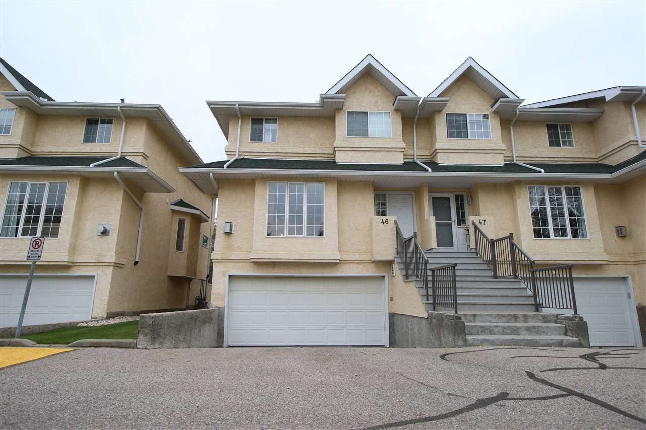 Welcome to the beautiful RAVINE ESTATES! This END UNIT townhouse features DUAL MASTER SUITES and is BACKING ONTO THE BEAUTIFUL RAVINE! You are welcomed in by the OPEN CONCEPT living and dining area, with a CORNER GAS FIREPLACE and brand new VINYL PLANK flooring throughout the main level. The kitchen and breakfast nook are quaint and bright and grant you access to a large deck over looking the RAVINE. The upper level features the LAUNDRY room with storage, and divides the space for the 2 SPACIOUS master suites. Both equipped with a FULL ENSUITE and WALK IN CLOSET! The WALK-OUT BASEMENT is composed of a second living area, with access from the DOUBLE ATTACHED GARAGE, 2-piece bathroom as well as access out to your PRIVATE COVERED PATIO. What more could you ask for, this home truly has it all!