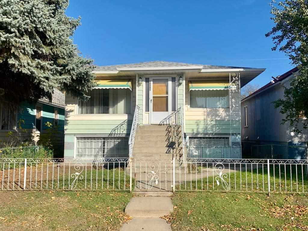 Welcome to this Fabulous Home situated in the heart of City, Conveniently located in Little Italy, only minutes to LRT, Downtown, Rogers Place, Chinatown, Kingsway Mall, School, Grant MacEwan University...Features total of 4 Bedrooms/2 Kitchens/2 Bathrooms/2 Separate Entrance/can be function as Up & Down Duplex. Main floor offers Large Living room with Bright Windows, Newer Laminate Flooring adjacent to Dining area. Spacious Kitchen. 2 Sizable Bedrooms. Full Bathroom with Newer Vanity. Front & Side SEPARATE ENTRANCE to FULLY FINISHED BASEMENT comes with 2 additional Bedrooms, Full Bathroom, 2sd Kitchen, Family room, Laundry & Utility room. Yard is fully Landscaped & Fenced. Back lane to Garage. Ready move-in Condition! Immediate Possession available. Just move in & enjoy!