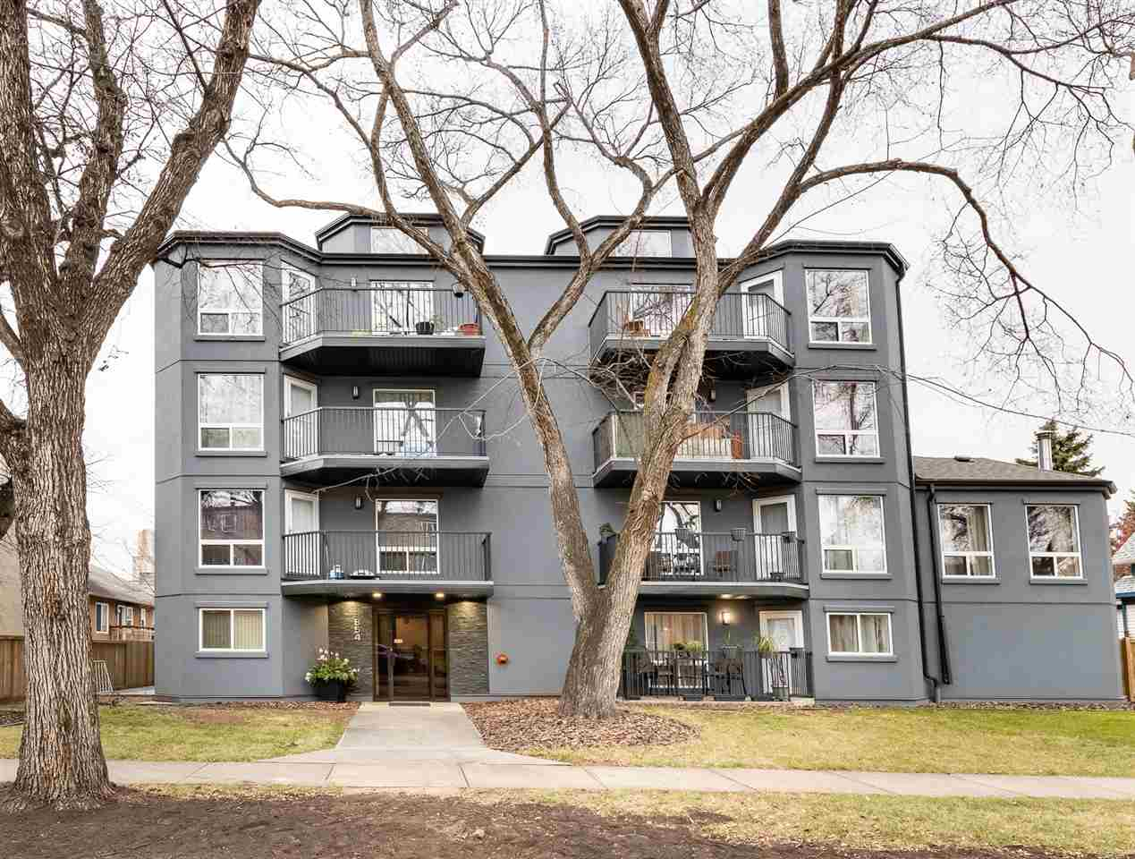 INVESTORS/STUDENTS/EMPTY NESTERS - Lowest Priced 2 bedroom condo with heated underground parking in the area. This spacious 1307 sq ft condo has everything you need & more. Main floor boasts a bright kitchen, washer/laundry area, dining room, large living area, half bath & access to the main floor patio. 2nd level offers a large loft style living area, a full bath, 2nd bedroom, Master with private balcony and semi ensuite (full 4 pce bath). Huge closets in the bedrooms, the abundance of storage and heated underground parking make this an easy choice. The building is currently undergoing a rejuvenation including exterior renovations and will be completely remodelled inside and out. Walking distance to Whyte Ave, close proximity to U of A, Mill Creek Ravine and downtown.