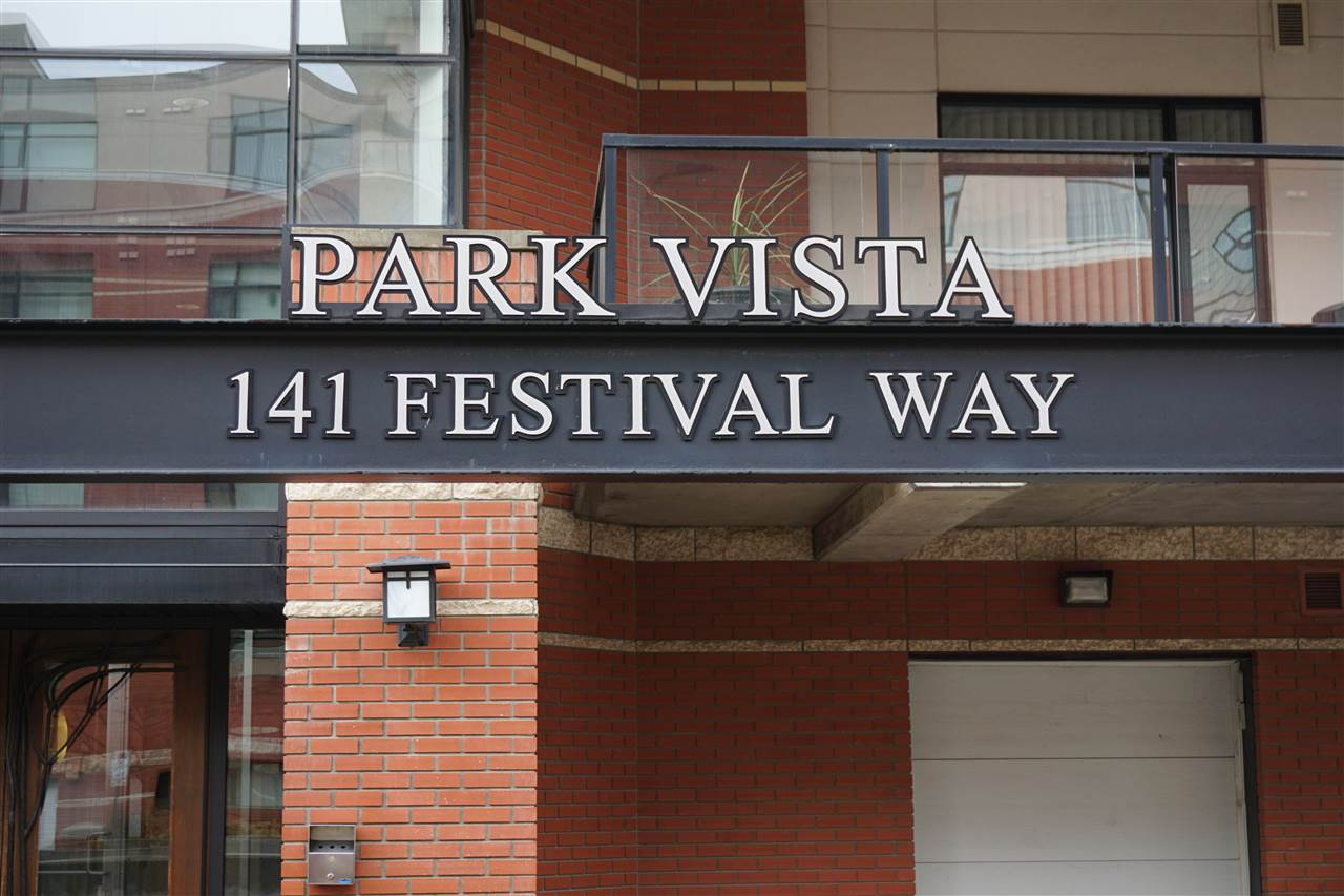 Park Vista 1 BR Condo in Centre In The Park! This well maintained CONCRETE BUILDING features 9 Foot Ceilings, Air Conditioning, Hardwood throughout and Underground Parking all within this Walkable Community in the middle of Sherwood Park!  The 870 St Ft features 1 BR (with large double closet); 1 large 4-PC Bath; Kitchen featuring Maple Cupboards, Granite Counters and classic Black Fridge, Stove, Dishwasher and Microwave Hoodfan; Den; In-Suite Laundry; large WI Closet at the front Door for extra storage. French door leads from Open Concept Living Area to 160 Sq Ft covered Deck. Additional Features within the Building include being Age Restricted (18+), Car Wash Bay, Guest Suite, Exercise Room and 2 Elevators.  All this with easy access to Shopping, Transit and Entertainment.
