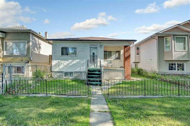 Cute little bungalow, big double garage, in front  all open inside, nice cabinets, potential for revenue, perfect little house to flip! all laminate floors, close to all services, fenced backyard, RF3  zoning, 2 roofs done recently,