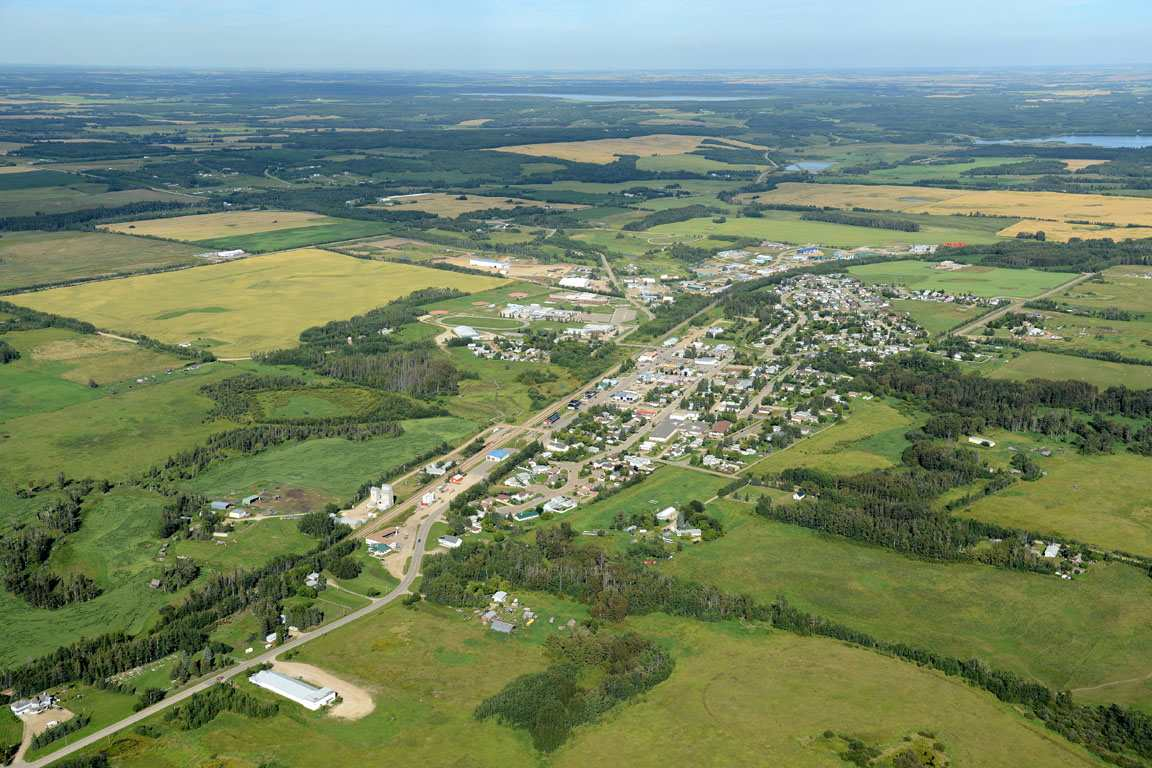 29.8 acres of open land at the South West Boundary of the Town of Onoway.  Town is open to Residential, Commercial or private Proposals.