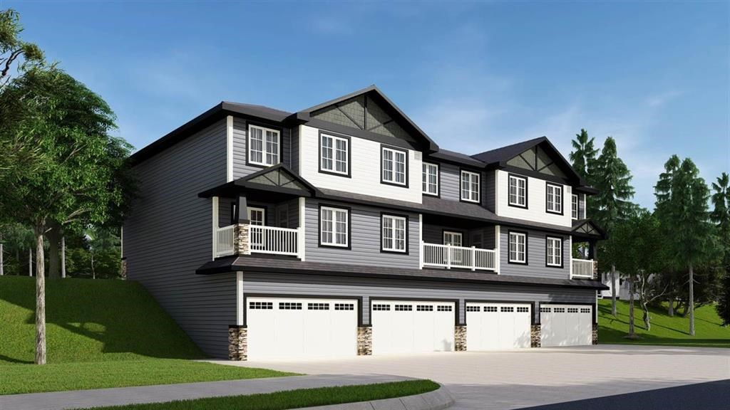 Maintenance-free living in a safe community! --- BRAND NEW HOMES STARTING AT ONLY $299,900.00 --- Welcome to THE PALMS at LAUREL. These BARE-LAND condos are just like a single family, but maintenance free. This unit is fully finished with over 1300 sq ft of living space has DOUBLE Attached Garage. The main floor offers 9ft ceilings, a large living room with foyer, U-Shaped kitchen with a huge walk-in pantry, half bath, and a 9' X 12' dining area and granite/quartz counter tops through out the house. The upstairs offers a huge master bedroom with a 4pc ensuite and walk in closet and 2 other good size bedrooms. Laundry is conveniently located upstairs. Still time to select your interior colors and design it to your preference. These homes are designed for a private community of like-minded families. You can expect snow removal on roads, sidewalks and driveways in the winter months, and all yard maintenance in the spring, summer, and fall. Move in and ENJOY!