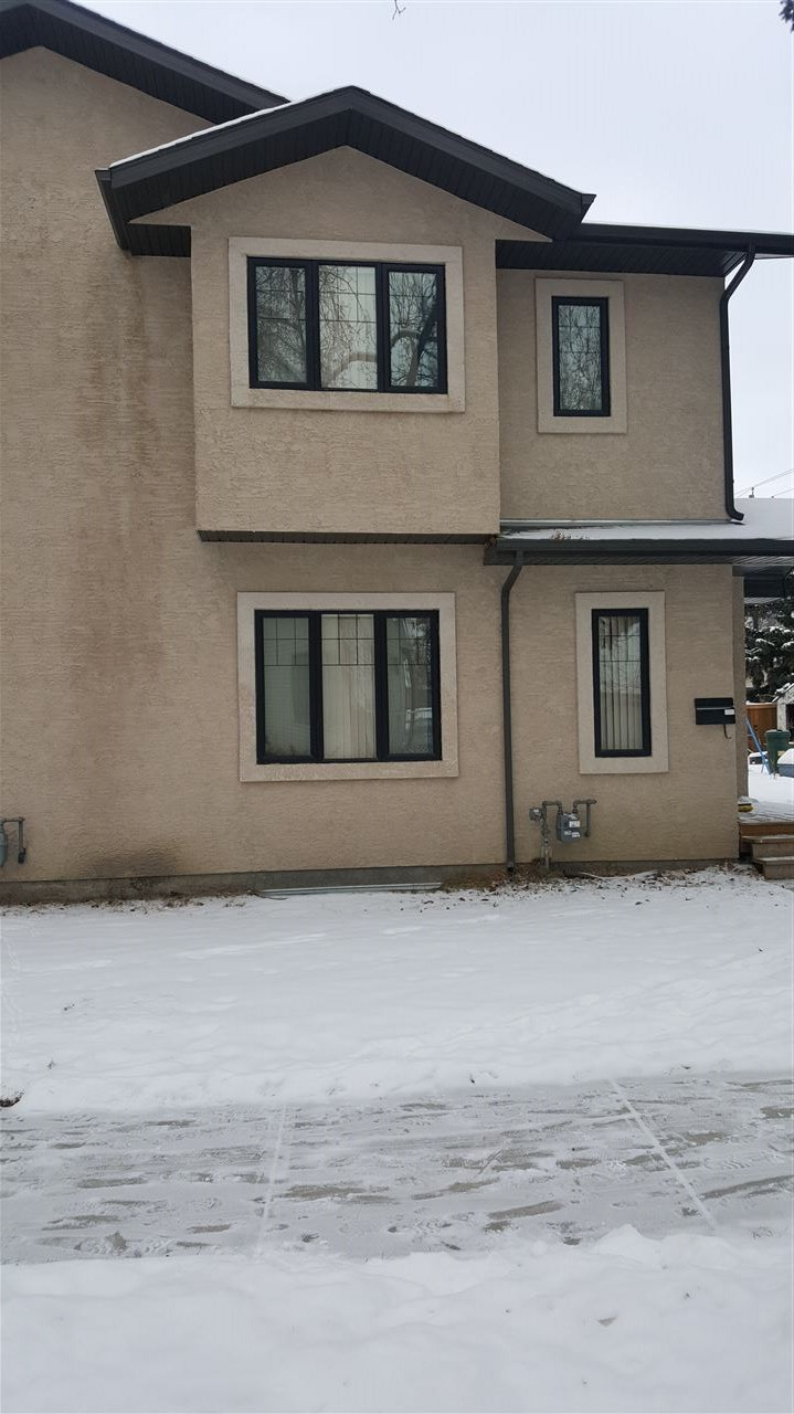 Attention investors two storey side by side duplex built on a corner lot each side boasting nearly 1300 sq. feet in bonnie doon area close to shopping centre, public swimming pool, public transportation and LRT,all kind of schools and university of alberta. Easy access to downtown close to sky hill on conners hill and verities of restaurants in the area. Nice and quite Neighbourhood to raise the family.