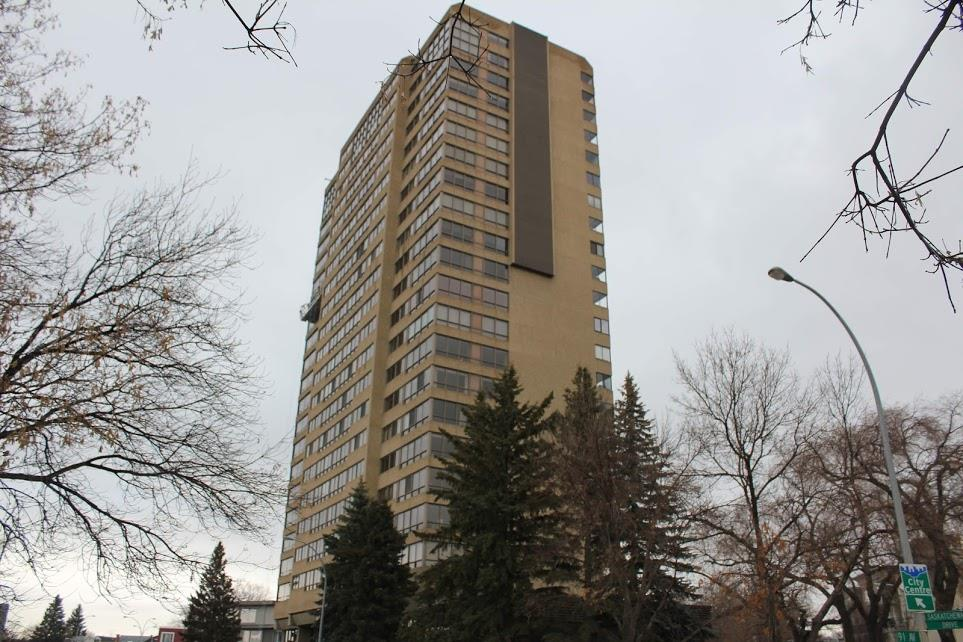 Affordable Executive Living, Welcome to 9929 Sask Drive! Enjoy all the benefits & ease of Condo Living and have one of the most amazing views of Edmonton' s Downtown Skyline. This extremely well planned 2 Bedroom & 2 Bathroom home has over 1814 sq ft of living space plus an additional 100 sq ft of balcony. A corner unit with a full 280 degree view of the City The large Master Bedroom has Downtown & River Valley views. Complete with a well planned walk in closet and 5 piece ensuite bathroom. The second bedroom faces south & has access to a 4 piece bathroom; great for visiting guests or could also be a great office.  Kitchen boasts stainless steel, stove, fridge, OTR Microwave and Dishwasher.  A sunken living room is off of the dining area.  Dinner parties will never be the same!!. Washer and Dryer are insuite.  A south facing enclosed balcony will have you using your BBQ year round. Heated Underground parking for 2 cars - tandem. Condo Fees include heat, water, electrical and cable. Welcome to easy living.