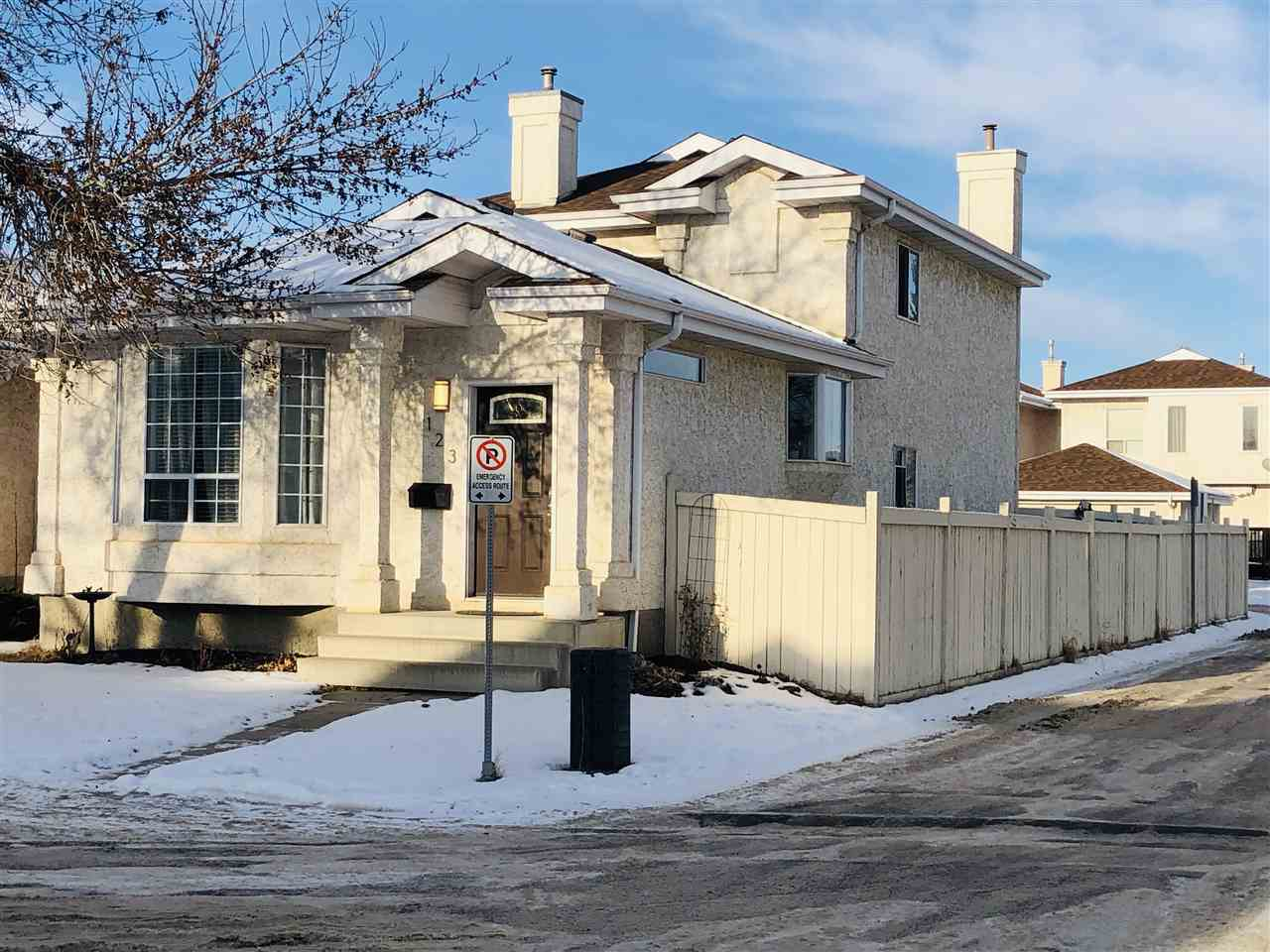 OUTSTANDING RIVER VALLEY VALUE! This Impeccable 3 Bedroom, (2) 4PC Bath home presents: OPEN PLAN KITCHEN w/4  updated STAINLESS STEEL  Appliances & NEW  Stainless Steel hood fan, Upgraded Baths w/self purging jet tub, New Lighting package, Freshly Painted throughout, & 2 Massive Bedrooms Up - plus 1 in the 4th level and a Sprawling Family Room w/gas fireplace & den. NEW SHINGLES 2017!! From the time you enter this home through the spacious foyer you won't be disappointed - you'll find Lots of Natural Light throughout to include the formal L/R, Bight & Cheery Kitchen, full size Dining area & Spacious Open Family Room & Den. You'll find tons of storage, front loading Washer & Dryer on the 4th level too!. The sliding doors off the lower level lead out to the deck, fully fenced newly landscaped yard w/entry to the double concrete pad that backs onto the lane. This stunning location is just steps to the North Saskatchewan River Valley walking trails, not to mention close to the off leash dog park! A MUST SEE!!