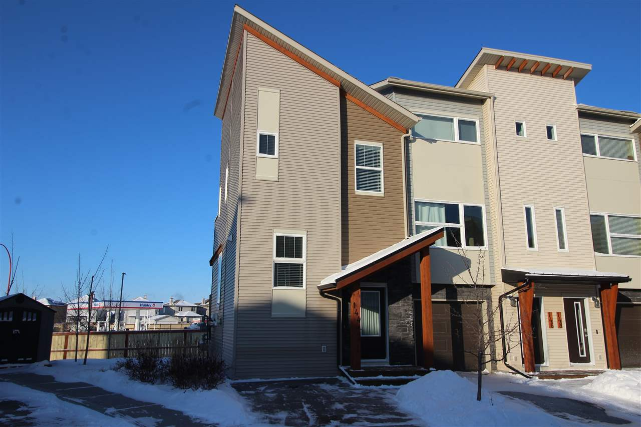 Welcome Home! Attention first time buyers and investors. An END UNIT bi-level townhouse located in the amazing Rushes of Southfork. 2 Bedrooms, 2 Baths, 2 Decks, and parking just outside your door. Located in Leduc?s Southfork community, this home has amazing curb appeal. With almost 1100 Sq. Ft. of total living space it?s perfect for a small family, a couple or a single with a roommate! The open concept floor plan features a galley kitchen, spacious dining area, living room and patio deck off the main floor. Upstairs is the master suite, with large walk in closet, 4-piece ensuite bathroom and a second patio deck. Below is another large bedroom, laundry, 3-piece bathroom and storage. Home includes stainless steel appliances and washer and dryer as well. With tile and laminate floor throughout, it?s super easy to clean and maintain. Near the entrance to Southfork, home is conveniently located close to schools, parks, transit, shopping, airport and quick access to Leduc city centre or HWY 2 and HWY 2A.