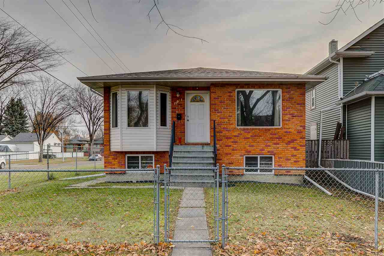 Lovely, well-maintained 1194 sq ft raised bungalow located in the established neighbourhood of Alberta Avenue on a large corner lot. Although it is a corner lot, there is only one sidewalk at the front of the house which you are responsible for - all the perks of a corner lot without the work that usually comes with it! The front entrance will lead you to a bright and open kitchen to your left and a large cozy living area to your right. Enjoy evening sunsets from the living area?s large, west-facing window. A well-lit hallway leads you to the home?s three bedrooms, including the master bedroom equipped with a half-bath ensuite. Basement is untouched and ready for your vision. This cozy home is fully fenced from public access and comes with a detached, over-sized single garage. In addition, the lot is zoned as RF3 which means there is great investment potential here should you be looking for a large lot to tear down and build a small, multi-unit building. Second suite potential with a SEPARATE ENTRANCE.