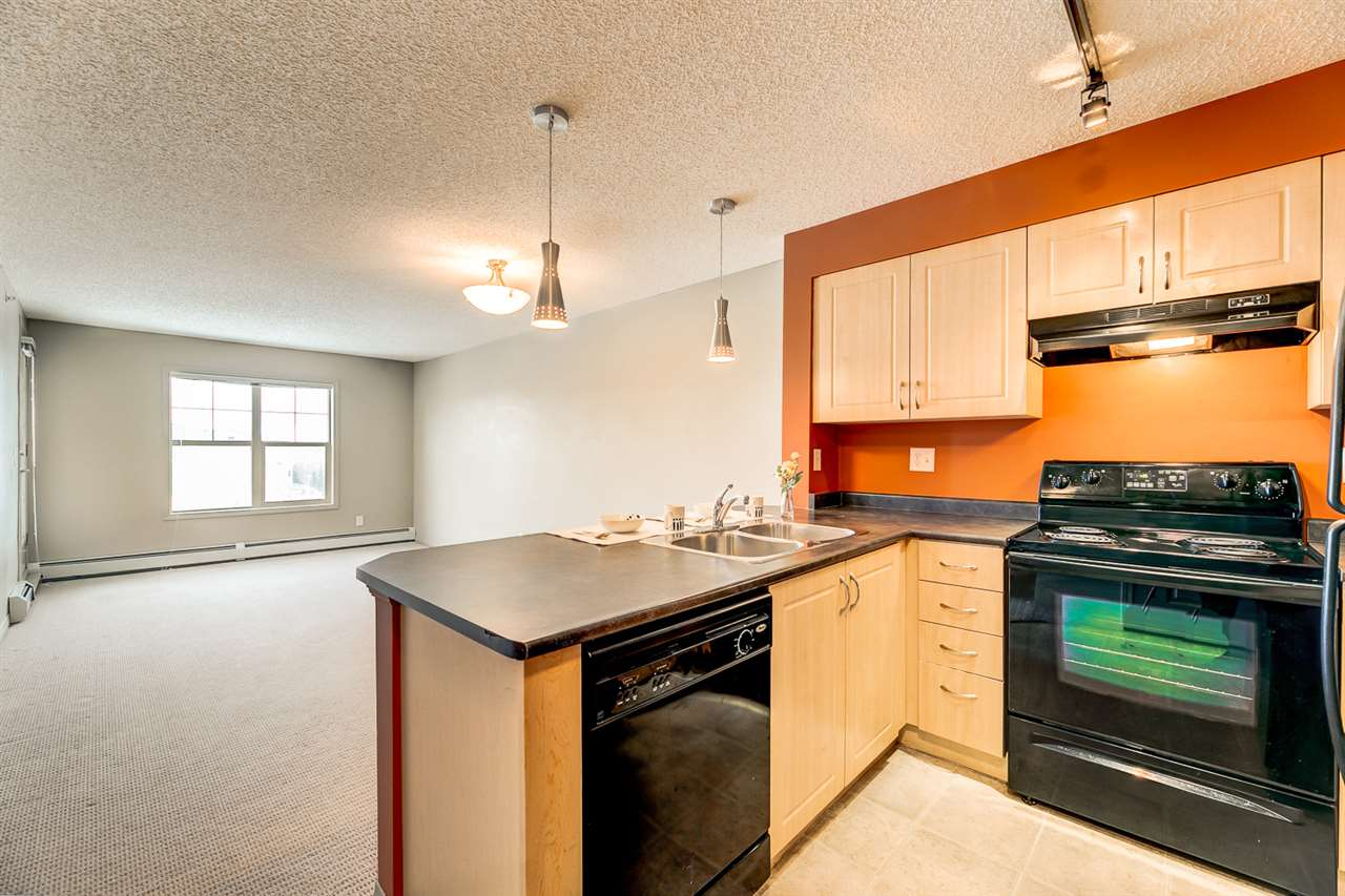 Investment Opportunity combining lifestyle & livability in the community of Rutherford! This top floor unit faces North offering unobstructed views and complete privacy. Immaculately kept and complete with two bedrooms, two full bathrooms, a sizeable living room and kitchen area, in-suite laundry, additional storage unit and an underground assigned parking stall. This unit is conveniently located near the new Capital Line Park & Ride which takes you directly to Century Park and is within walking distance of schools, ravine trails, central parks, shopping, grocery stores and bus stops. Quick access to Anthony Henday leaves major shopping centres minutes away and only a short commute to Downtown, Whyte Ave and the University of Alberta. This income generating condo is waiting for you to call it home or your next investment!