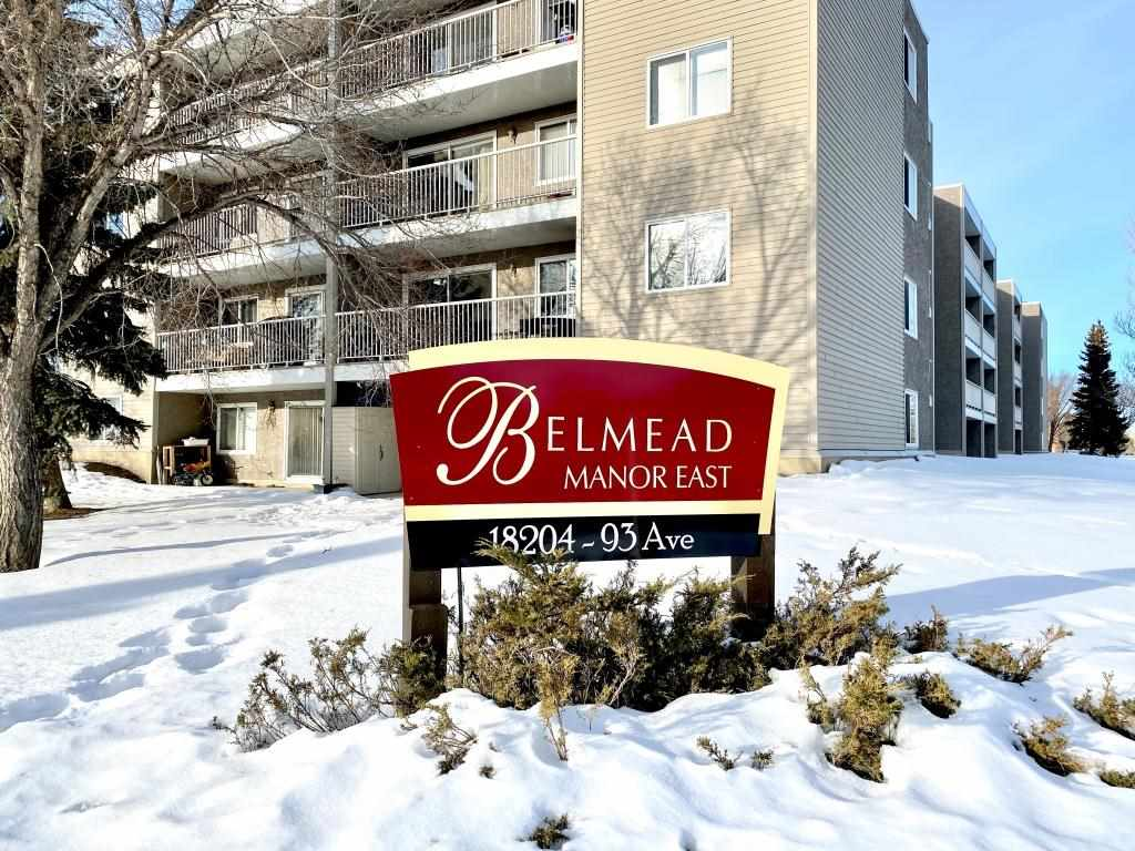 GORGEOUS ONE BEDROOM RENOVATED in a HIGH SECURE BUILDING - located just across from Belmead Park and a couple minutes from West Edmonton Mall this bright and gorgeous one bedroom has been nicely renovated with a completely redesigned kitchen, new flooring and paint. The kitchen is gorgeous with modern white cabinetry, gorgeous counters and a large pantry. Sitting facing east means you get bright morning sun, but more important it means cool evenings and days in the summer, and being a main floor unit means your patio comes with access to the grounds which are well kept, green and come with beautiful mature trees. And you can feel secure knowing the building itself is secure. recent upgrades don't only include nice hallways and a renovated lobby, but they have also added modern security features such as cameras and secure entry into the building. These are the things that matter most to buyers in this segment. This is not only a great home but also can be a smart investment drawing great tenants. Welcome!