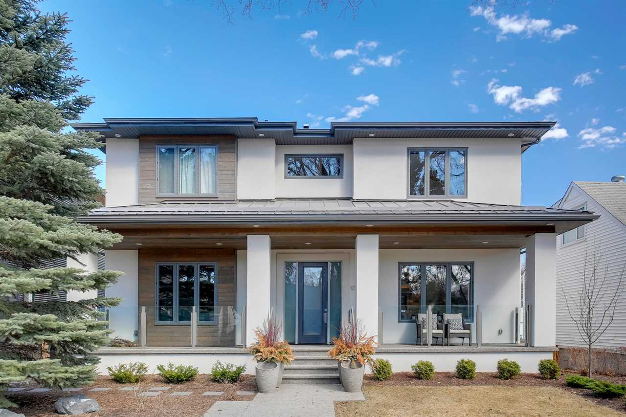 Welcome to the historic community of Glenora with tree lined boulevards, top rated schools & excellent coffee shops! This stunning 2014 new 2 story home on a quiet street is beautiful inside & out ? totaling 4311sqft of finished living space ? 4 bedrooms upstairs plus 1 bedroom in the basement, 3.5 baths ? 7001sqft lot ? triple oversized detached heated garage ? the fit, finish & style throughout is fabulous! Step into the home & feel how well each room blends into each other seamlessly.  The foyer leads to the bonus room/office on one side & the living room, dining room & kitchen on the other.  The kitchen is spectacular with a dream island, custom cabinetry & natural light flowing throughout.  Upstairs the natural feel continues with the 3 incredible bedrooms & a master suite like no other - luxury ensuite & dressing room. Downstairs ? entertaining family room with wet bar, fitness room, bed & bath!  Outside ? the backyard is beautiful with a large deck for entertaining & kids playing!
