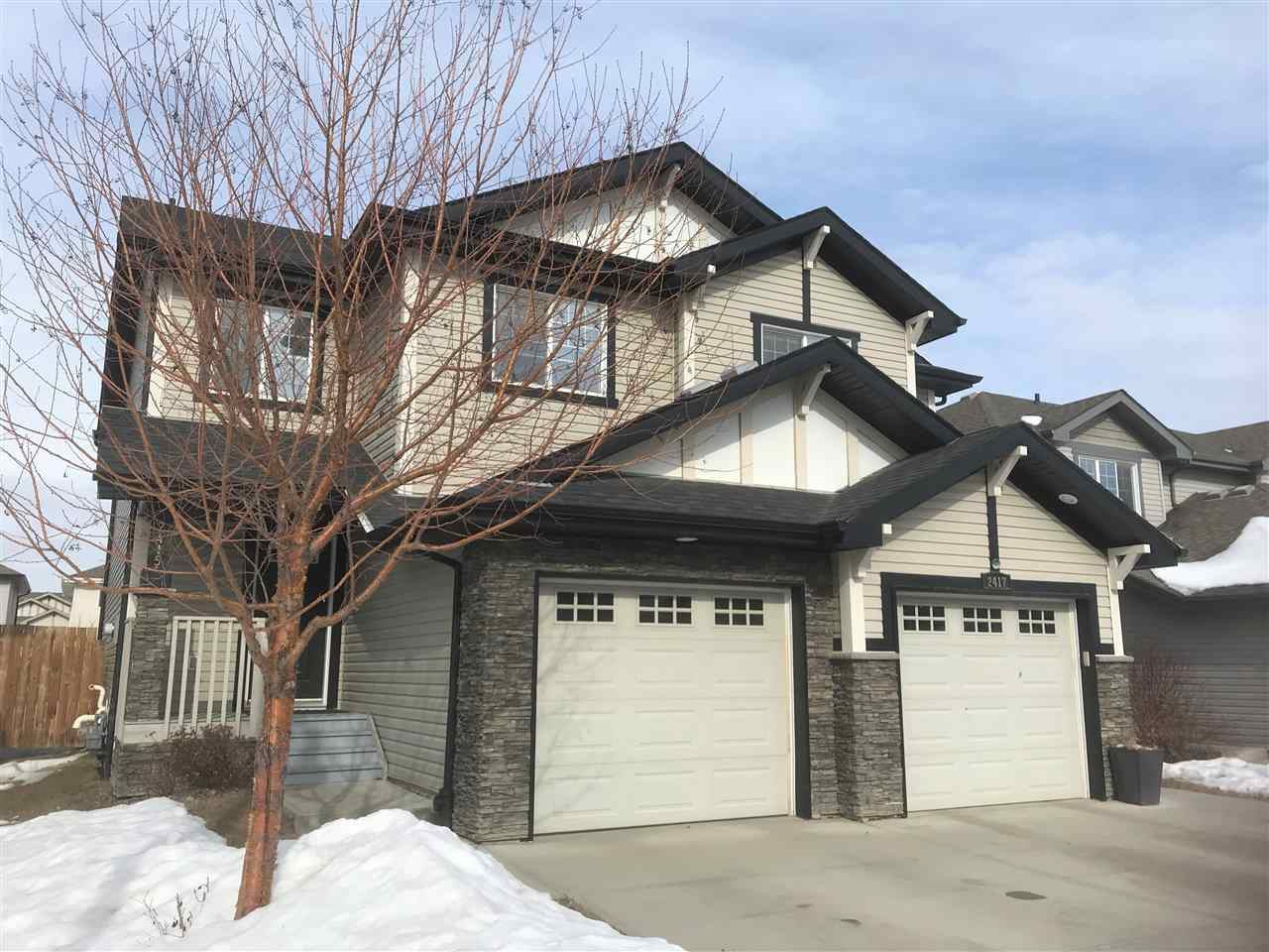 Well maintained & freshly painted.  Features:  3 bedroom and 2.5 bathroom half-duplex;  HUGE rear deck;  Intelligent floor plan with corner GAS fireplace;  Basement partially finished (most of the hard work has been done!).  Move in and Enjoy! Home is here & what you make it!!