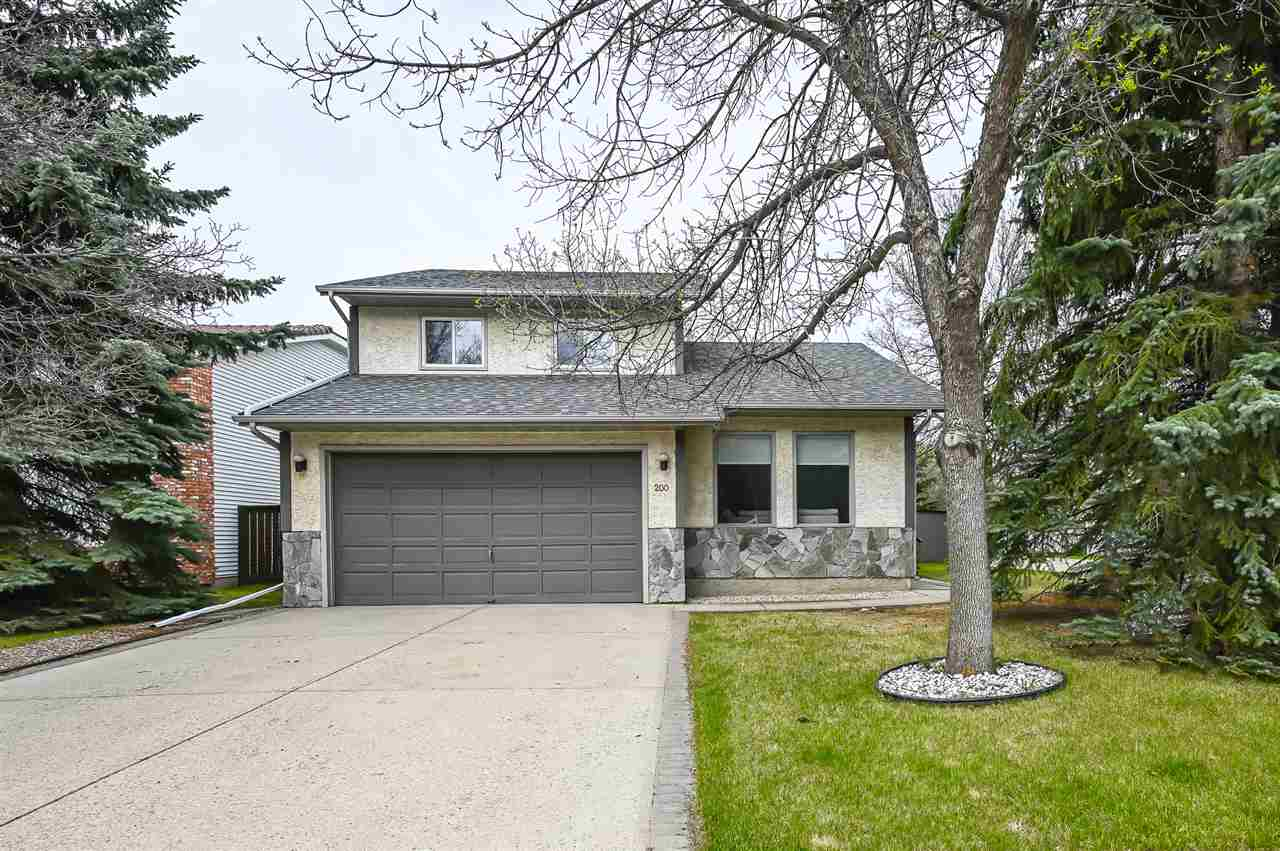 Fantastic two storey home located in highly desirable Henderson Estates of Riverbend! Custom built by Gable, this fully finished home has just been renovated with new laminate flooring & tile throughout main floor, FRESH paint, and brand new carpet on second floor, newer windows, countertop, brand new SS appliances, and shower in Master room suite. Boasting multitude of windows with ample natural light, vaulted ceiling in living room and dining room, main floor laundry & family room with wood burning fireplace. Upstairs you will find 3 good sized bedrooms; fully finished basement has a 4th bedroom, entertainment room & full bath. Outside, you will find an expansive yard with fruit trees that backs onto an alley for privacy. Within school boundaries of some of Edmonton?s best schools: Earl Buxton, Riverbend Junior High and Lilian Osborne! Easy access to all major routes for shopping & walking distance to park, playgrounds and the river valley.