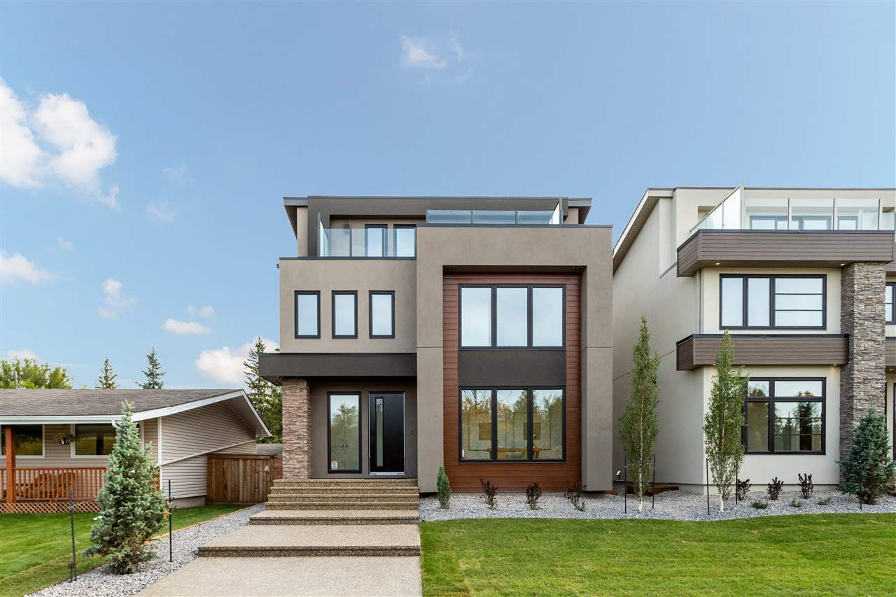 """Welcome to Aspen Gardens. One of Edmonton's most sought after """"Family Neighbourhoods"""".  Surrounded by Whitemud Creek Ravine and Walking trails. This is an amazing opportunity to Own a Custom Built """"One of a Kind"""" 5 bedroom house. Built by one of Edmonton's Premiere Master Home Builders. Canyon Spring Master Builder. Over 3900 Sq ft of finished living space, with sweeping Ravine Valley Views from a third floor deck. With this very Private location you will enjoy West facing Sunsets all year round. The main floor will feature 9 ft Ceilings, a Custom """"Entertainers Kitchen"""" with Gas Range and an Open concept living area. This home features High End fixtures, Upgraded Lighting and Plumbing pkgs. Plus a main floor Den. The 2nd floor will feature 4 bedrooms and Separate Laundry Room & a Spa Like Master Ensuite. The Basement comes fully finished with a large open Rec room and bar, 10 ft Ceilings and 1 bdrm. Ownership in Aspen Gardens means entry into some Edmonton's top Elementary and Junior High Schools."""