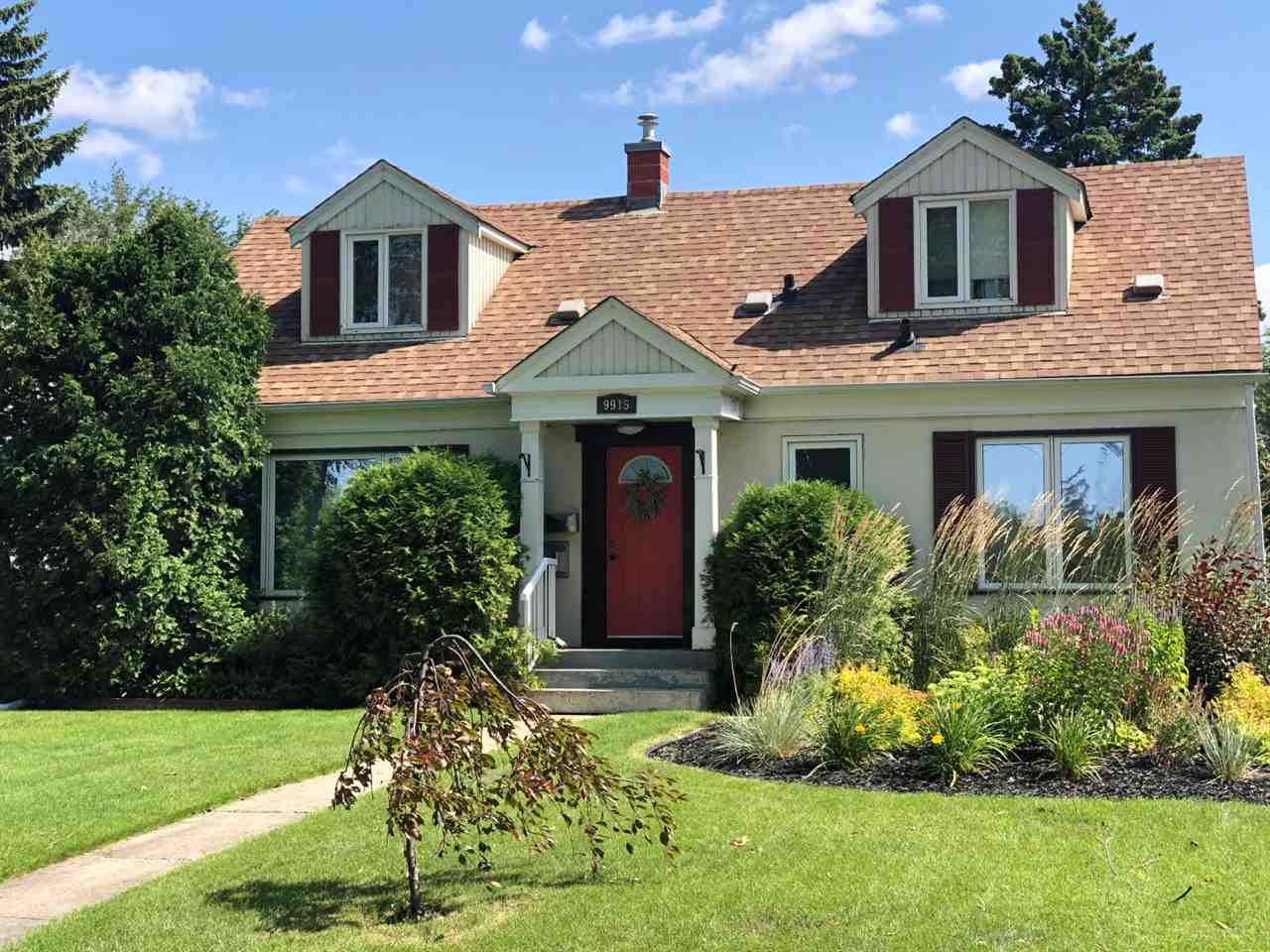 This beautiful character home is located in the sought after community of Forest Heights, boasting over 2400 sq ft of developed living space on a 15.2 x 33.5 sq meter lot. This home has upgraded newer maple kitchen, bathrooms, windows, shingles, 100 amp electrical and many more. On the main floor you will find the living room with corner gas fireplace, dining room, kitchen, 2 bedrooms and a 4 pc bath. The loft area offers a large bedroom c/w walk-in closet, second bedroom and a 2 pc bath. The basement is fully finished featuring a rec room, office, workshop, utility room, storage and laundry room. This gorgeous home offers an amazing view of the downtown and is located close to schools, within 2 blocks of the river valley, 10 minutes to downtown and the U of A. Single detached garage and a large beautiful backyard complete this home. A real pleasure to show.